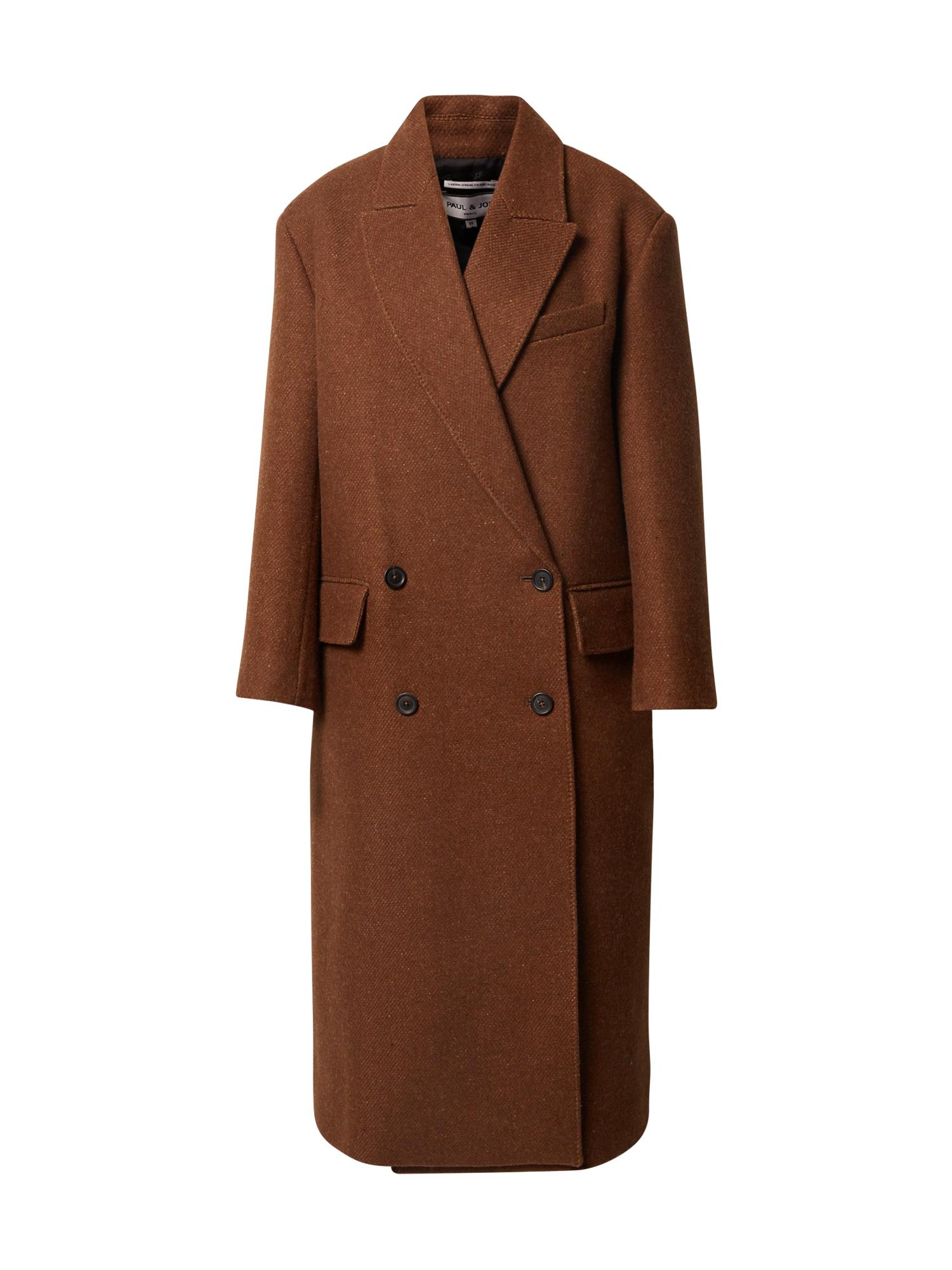 PAUL & JOE Demisezoninis paltas tamsiai ruda