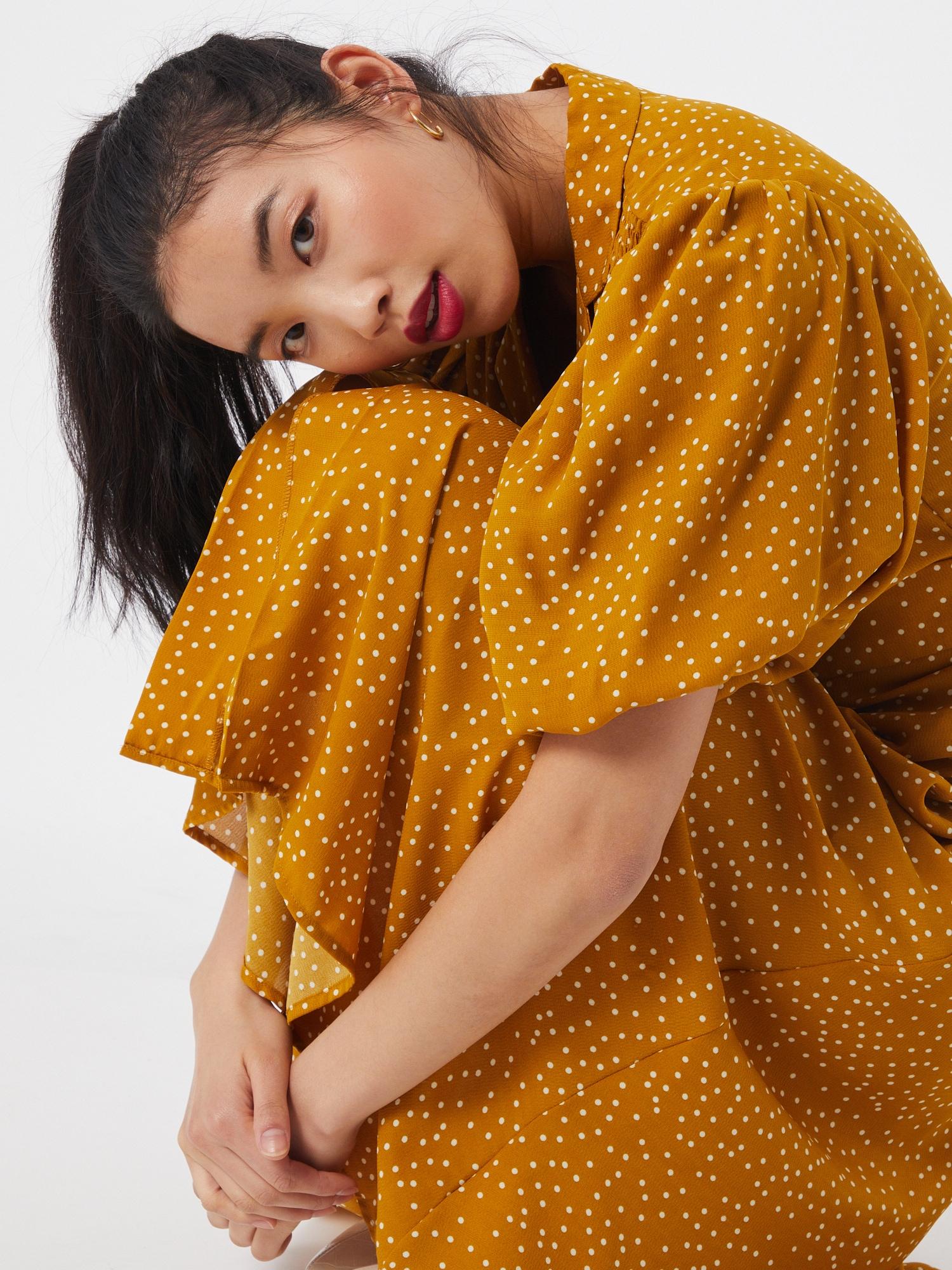 Louche Košeľové šaty  žltá / biela.