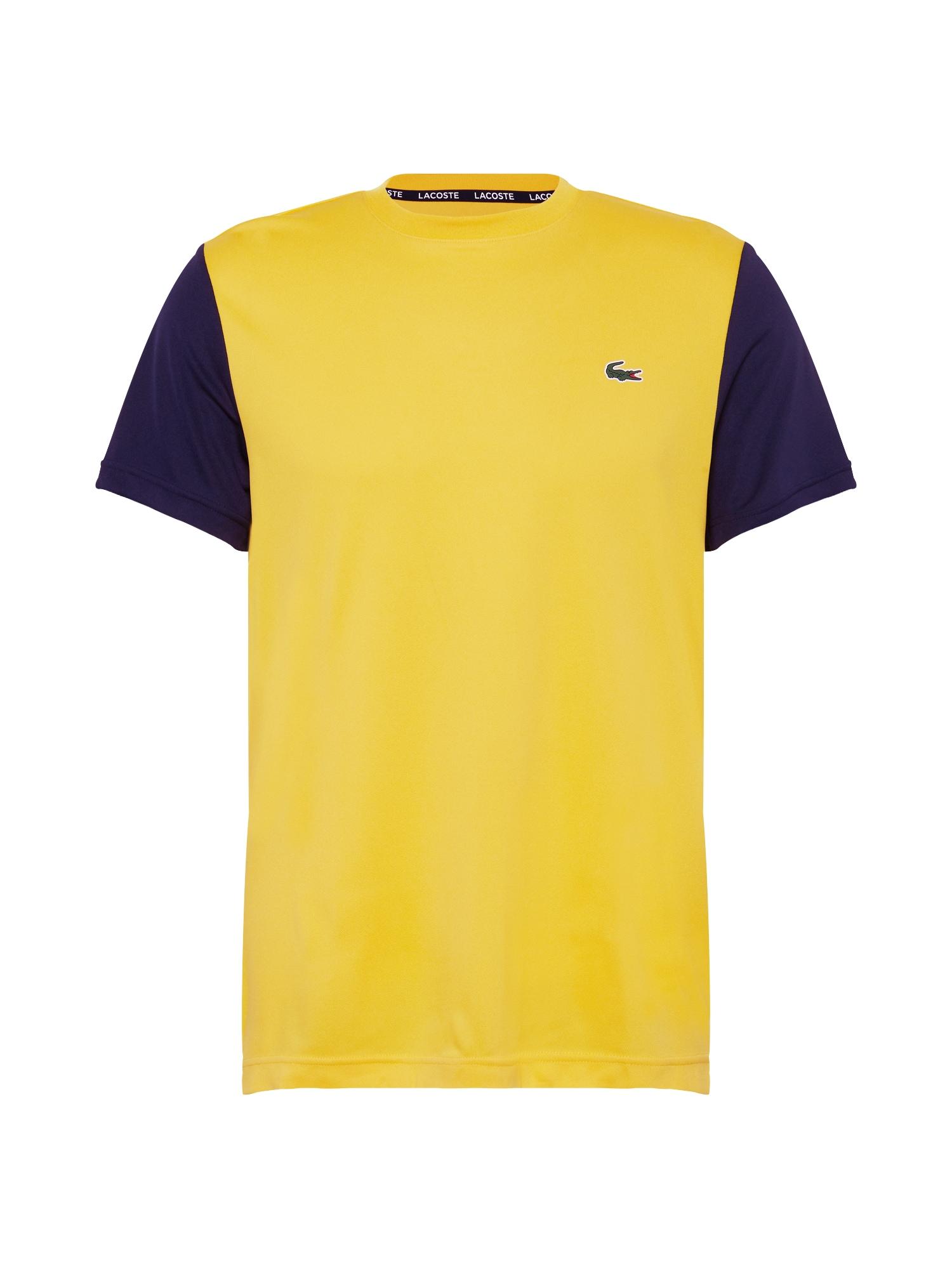 Lacoste Sport Funkční tričko  marine modrá / žlutá