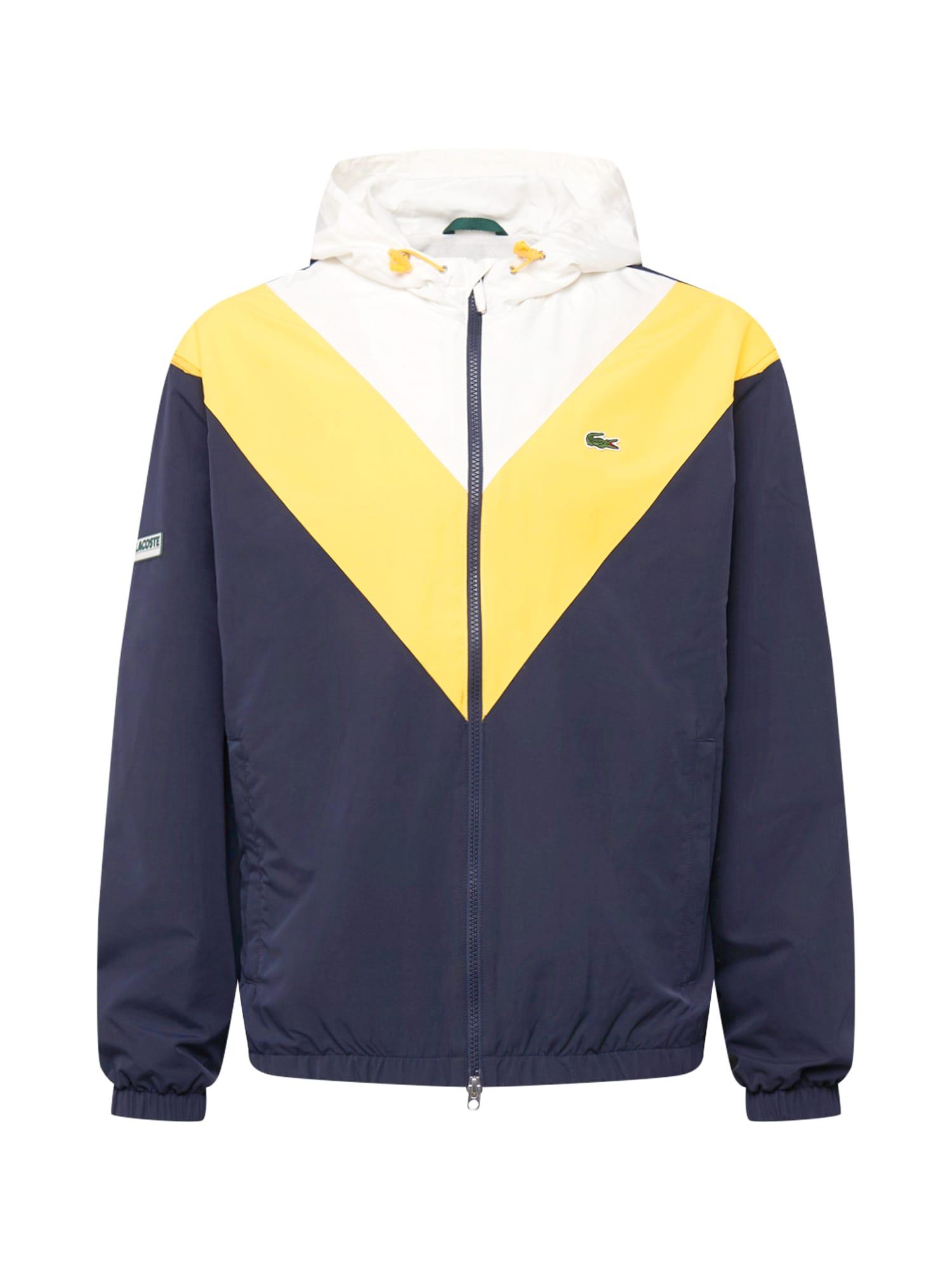LACOSTE Funkční bunda  modrá / bílá / žlutá