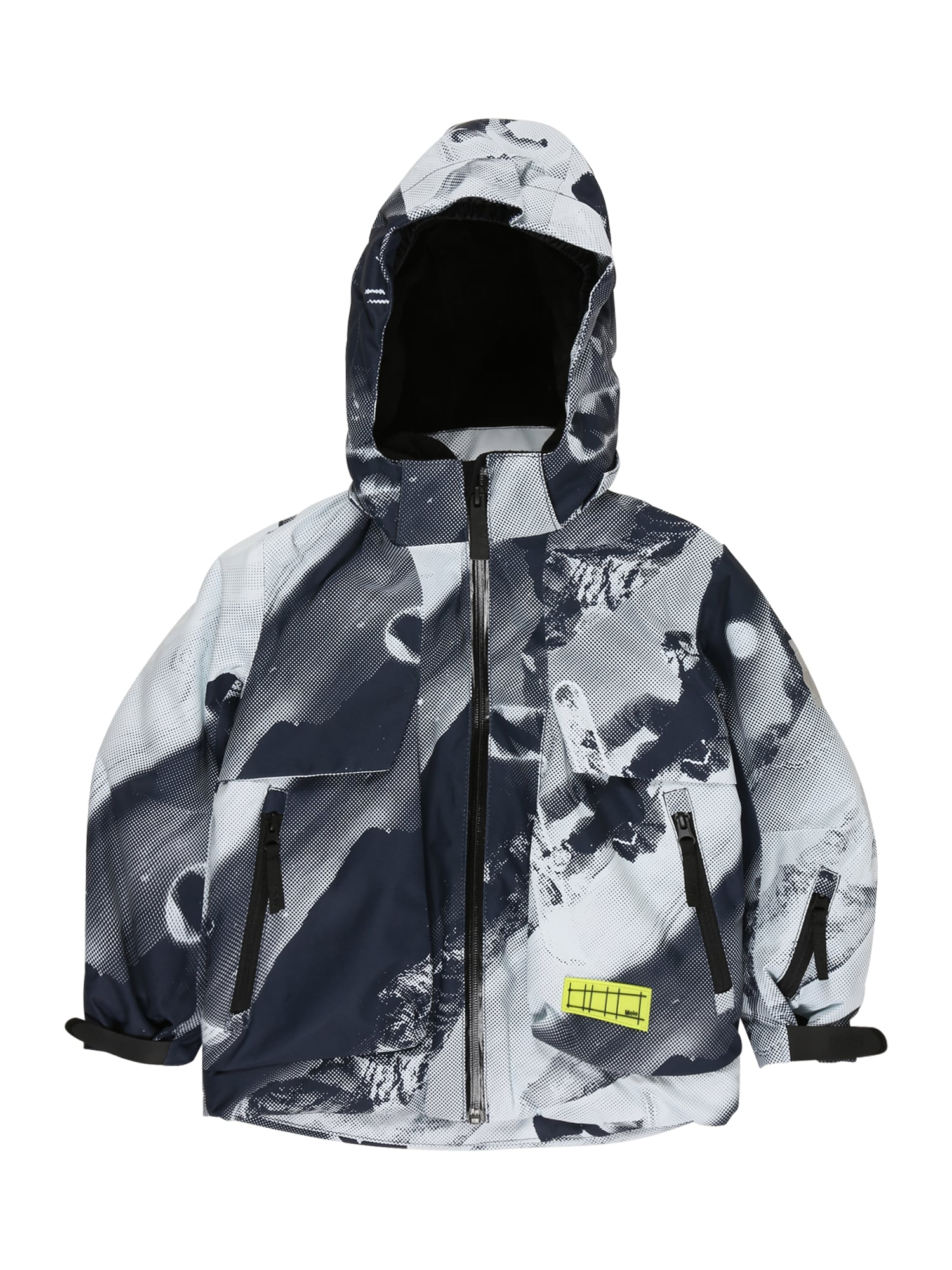Molo Zimná bunda 'Alpine'  svetlosivá / biela / grafitová / antracitová