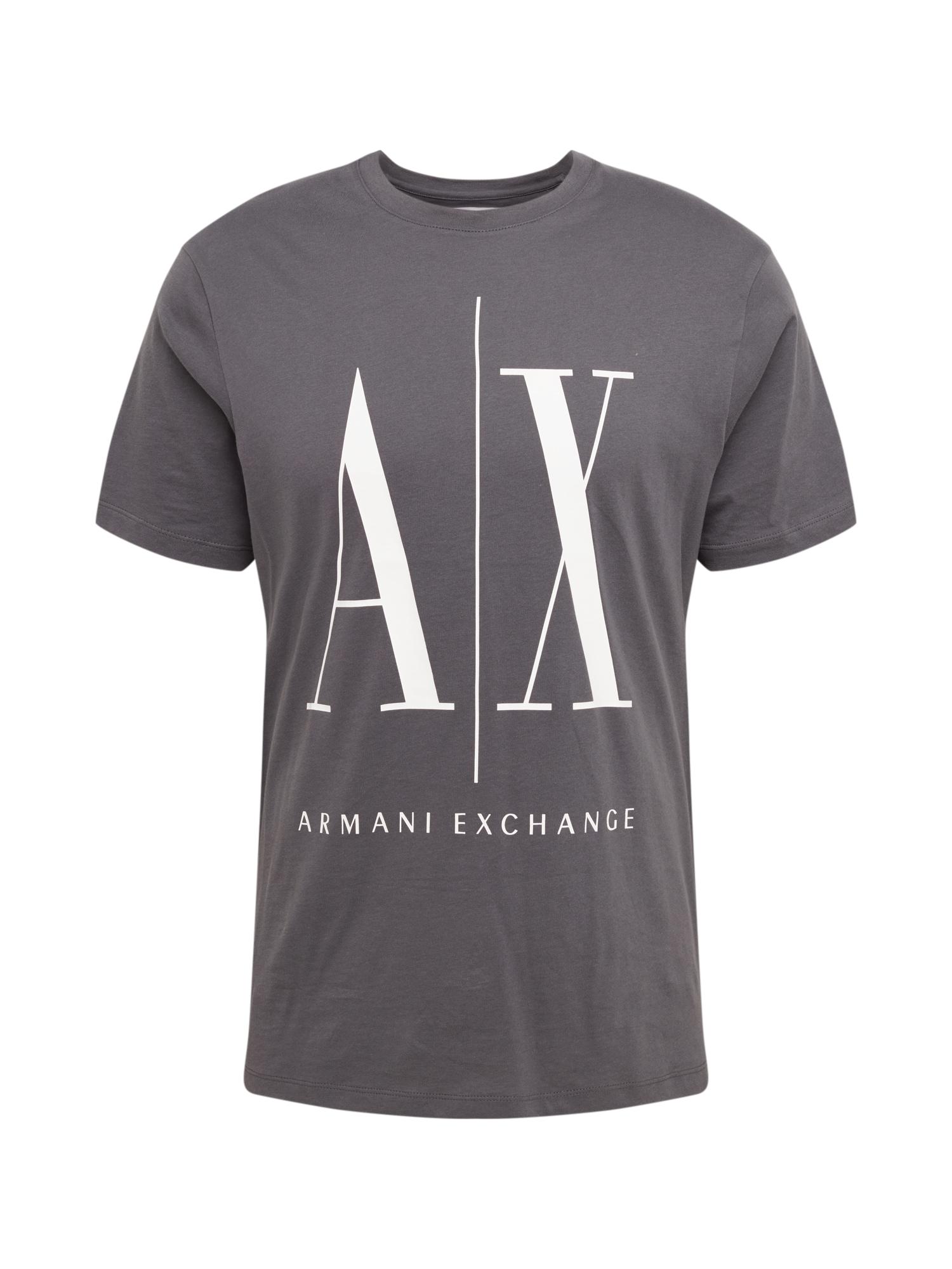 ARMANI EXCHANGE Marškinėliai '8NZTPA' balta / pilka