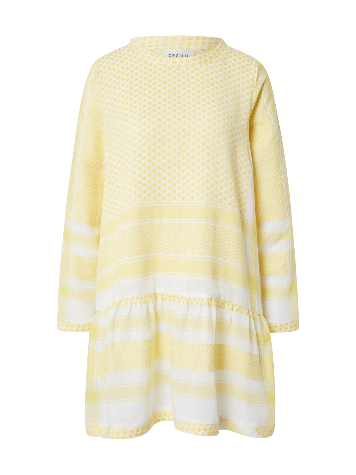 Cecilie Copenhagen Suknelė balta / šviesiai geltona