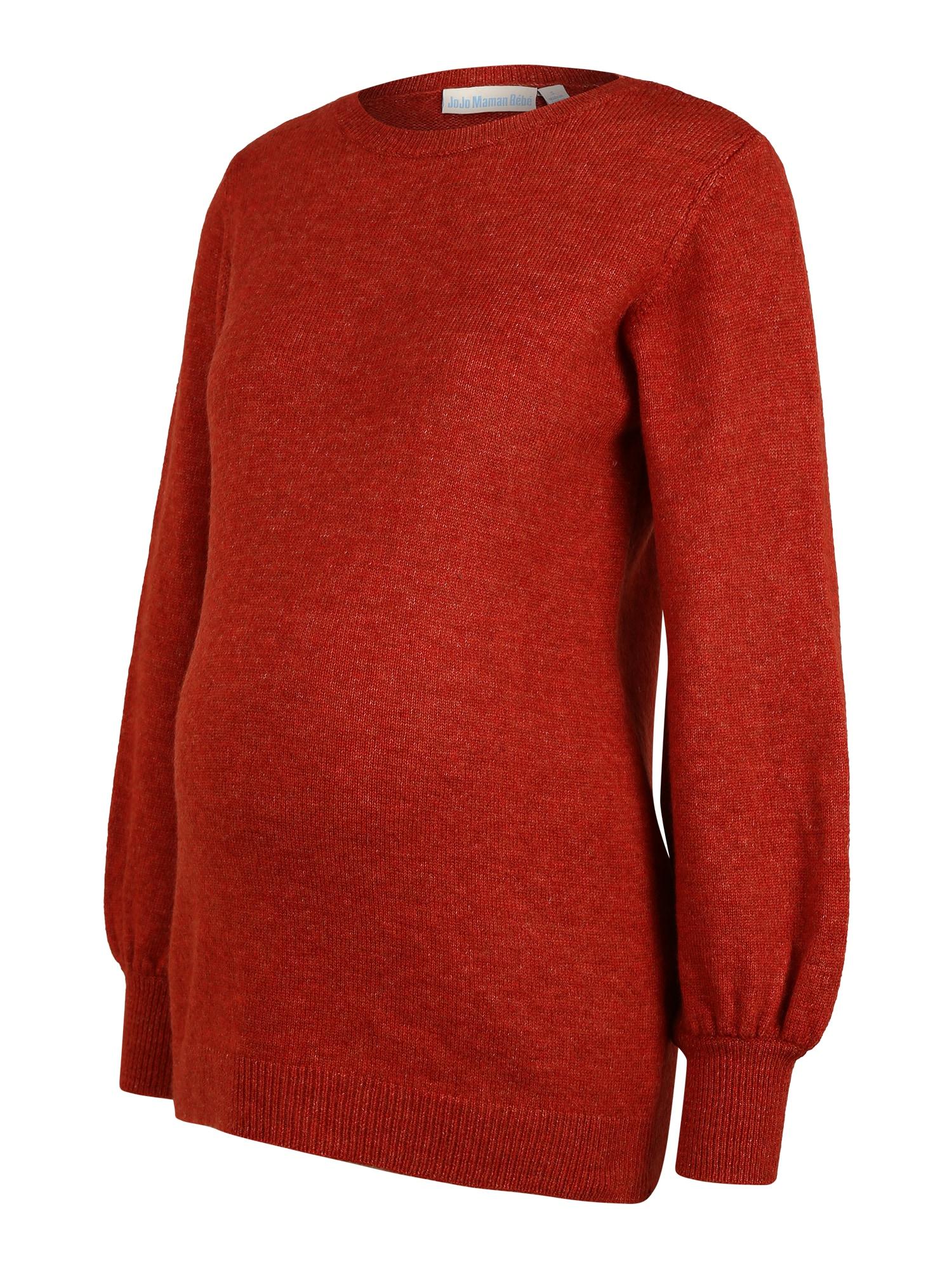 JoJo Maman Bébé Megztinis rūdžių raudona