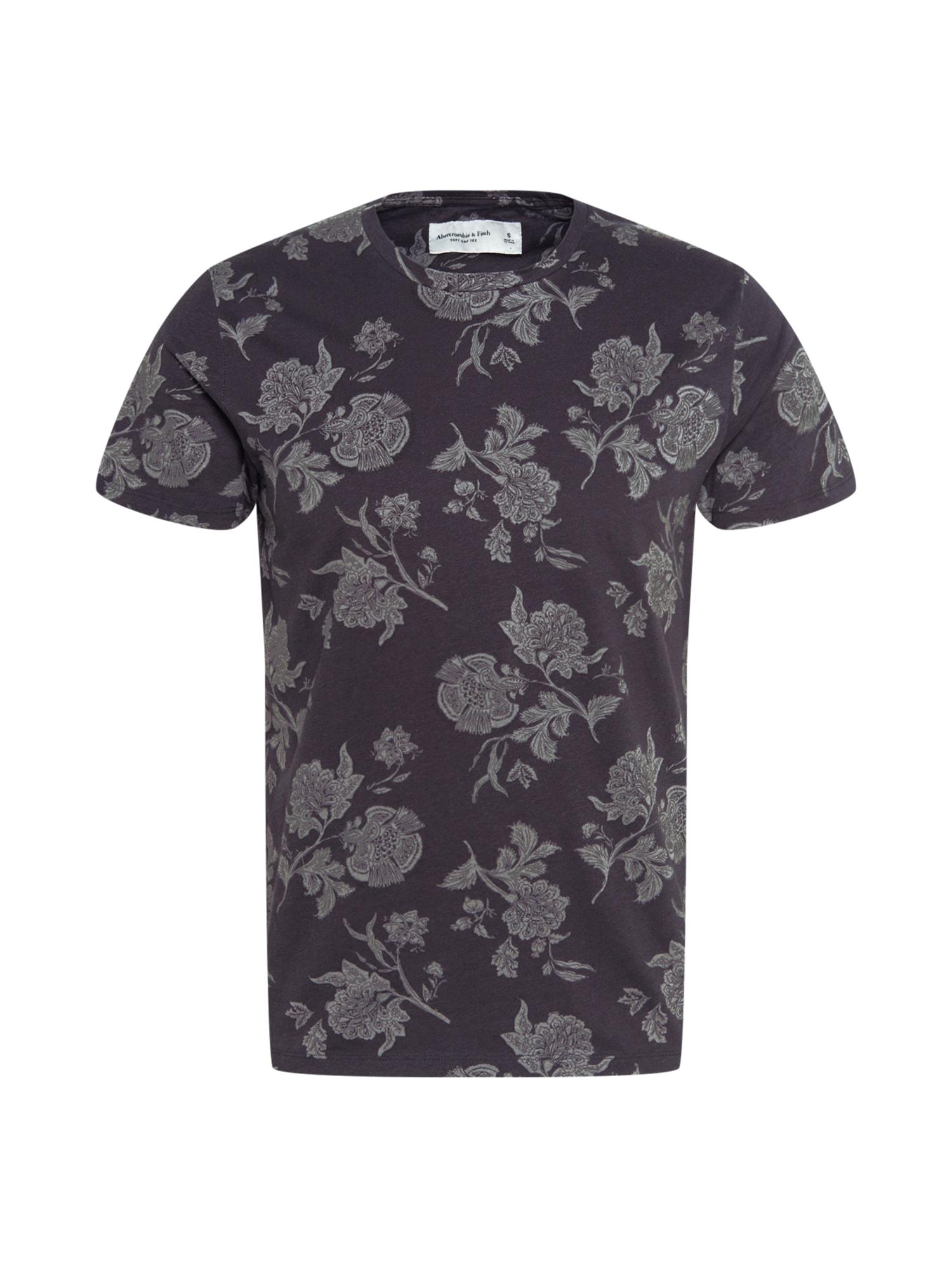 Abercrombie & Fitch Marškinėliai juoda / tamsiai pilka