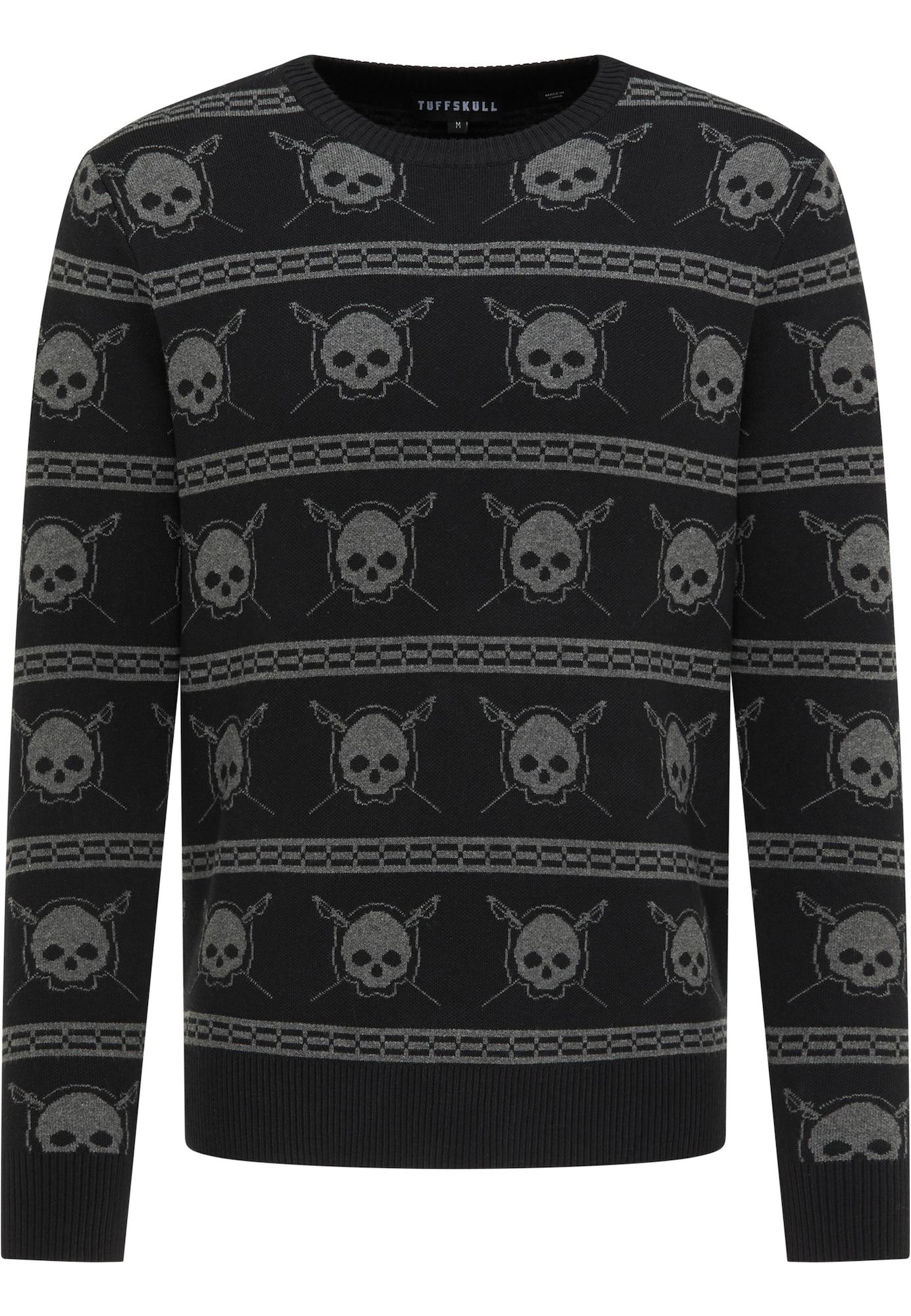 TUFFSKULL Megztinis juoda / rausvai pilka