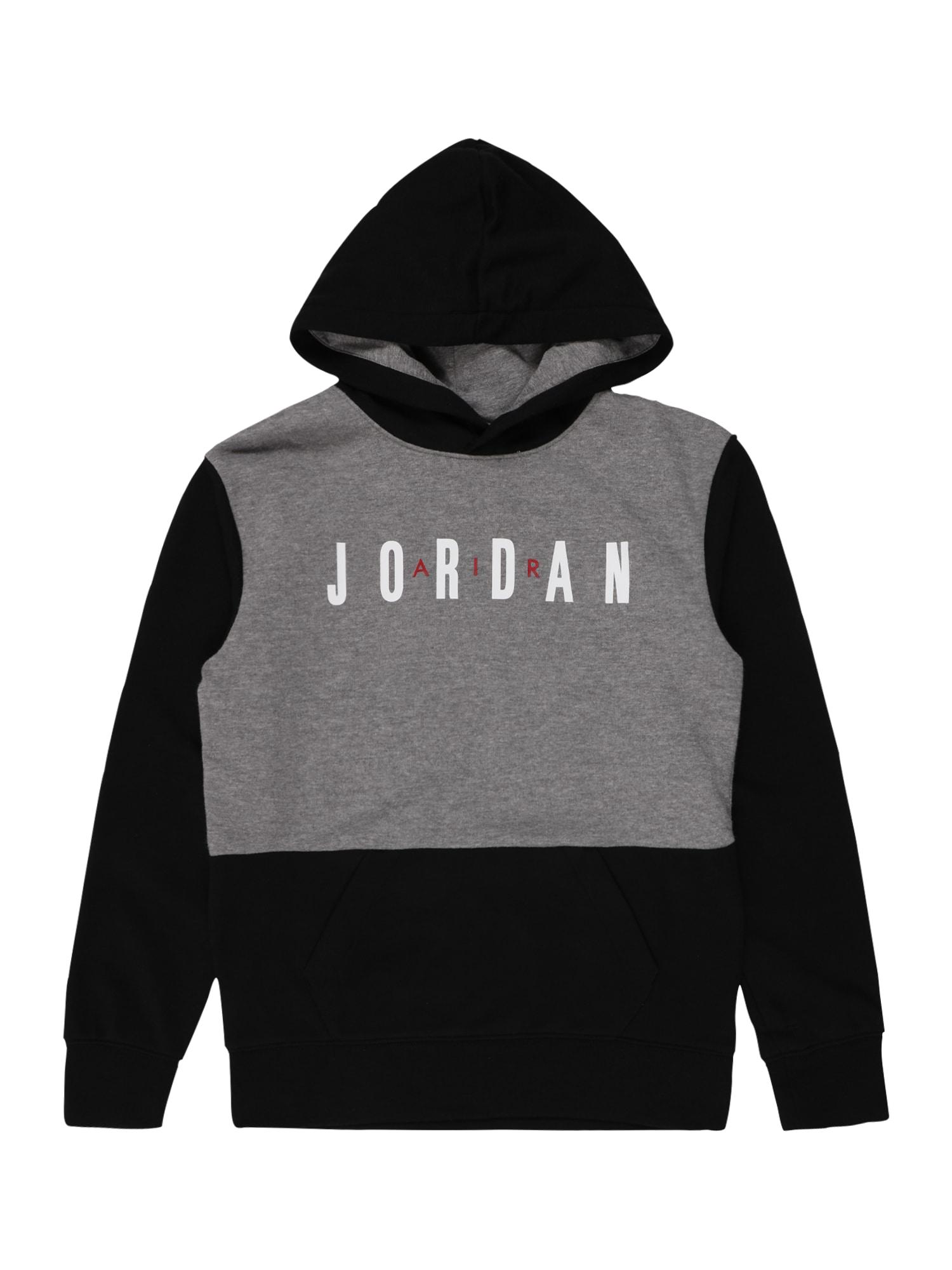 Jordan Megztinis be užsegimo tamsiai pilka / juoda / balta