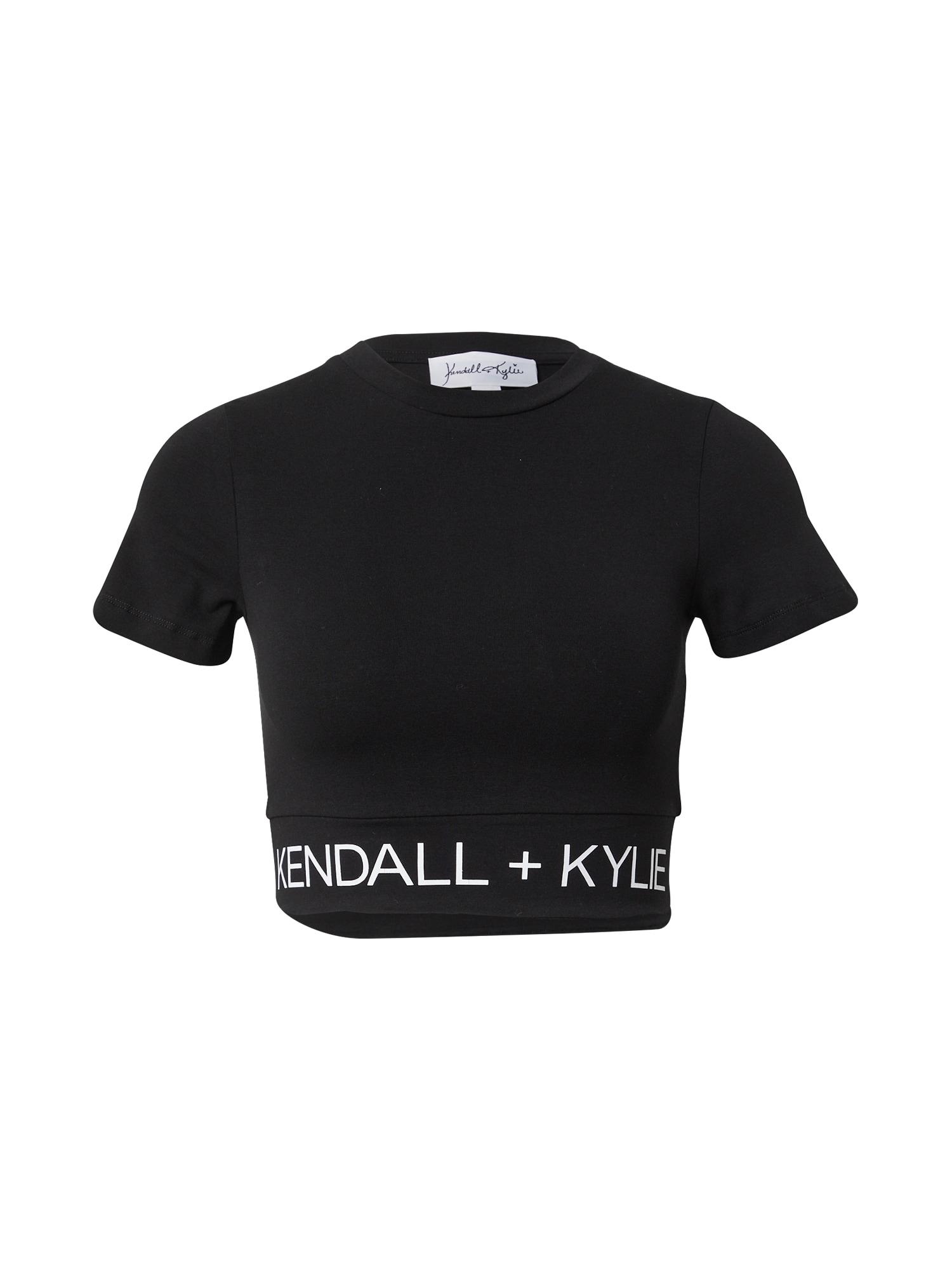 KENDALL + KYLIE Marškinėliai juoda / balta