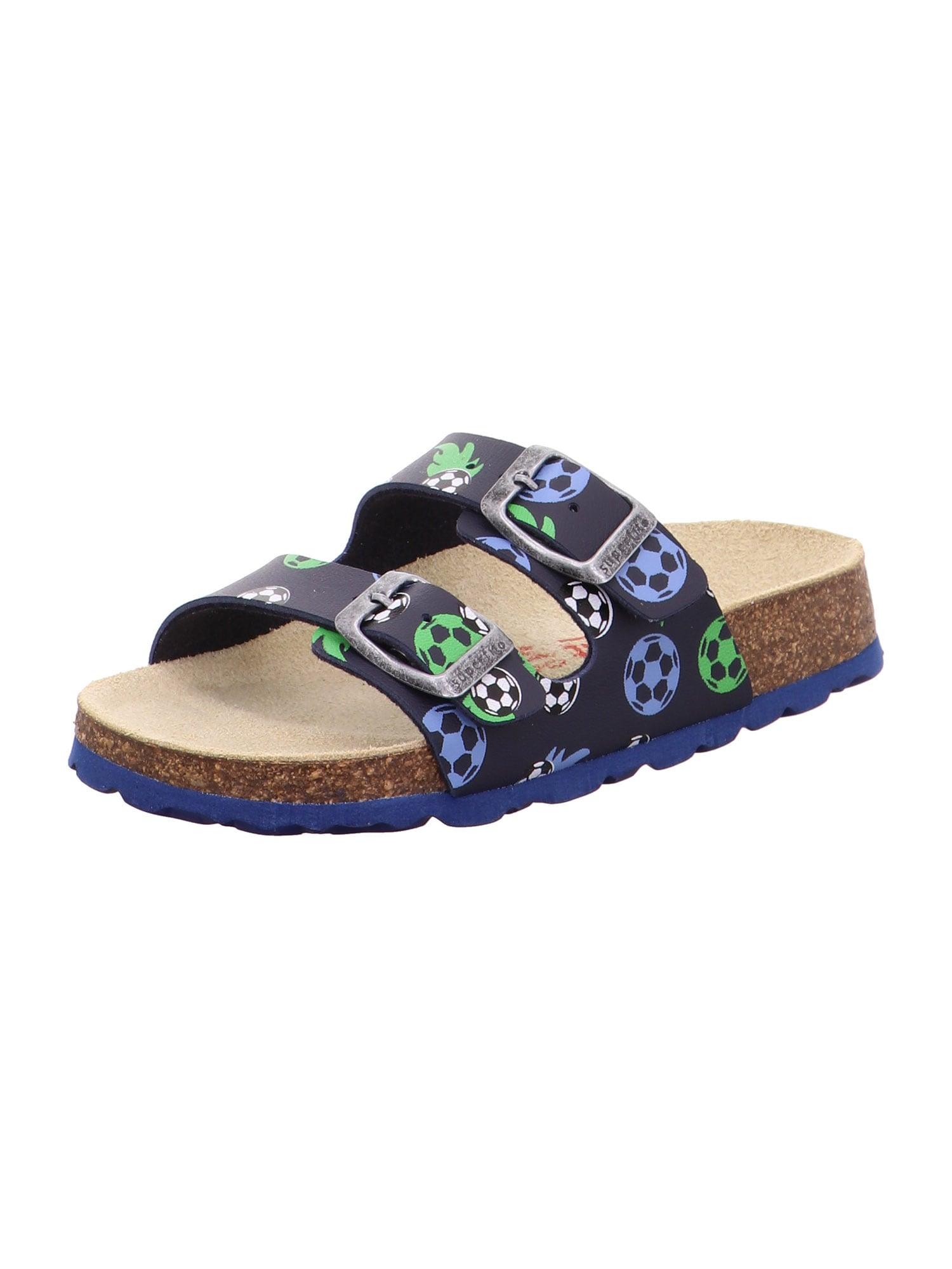 SUPERFIT Atviri batai nakties mėlyna / dūmų pilka / šviesiai žalia / balta