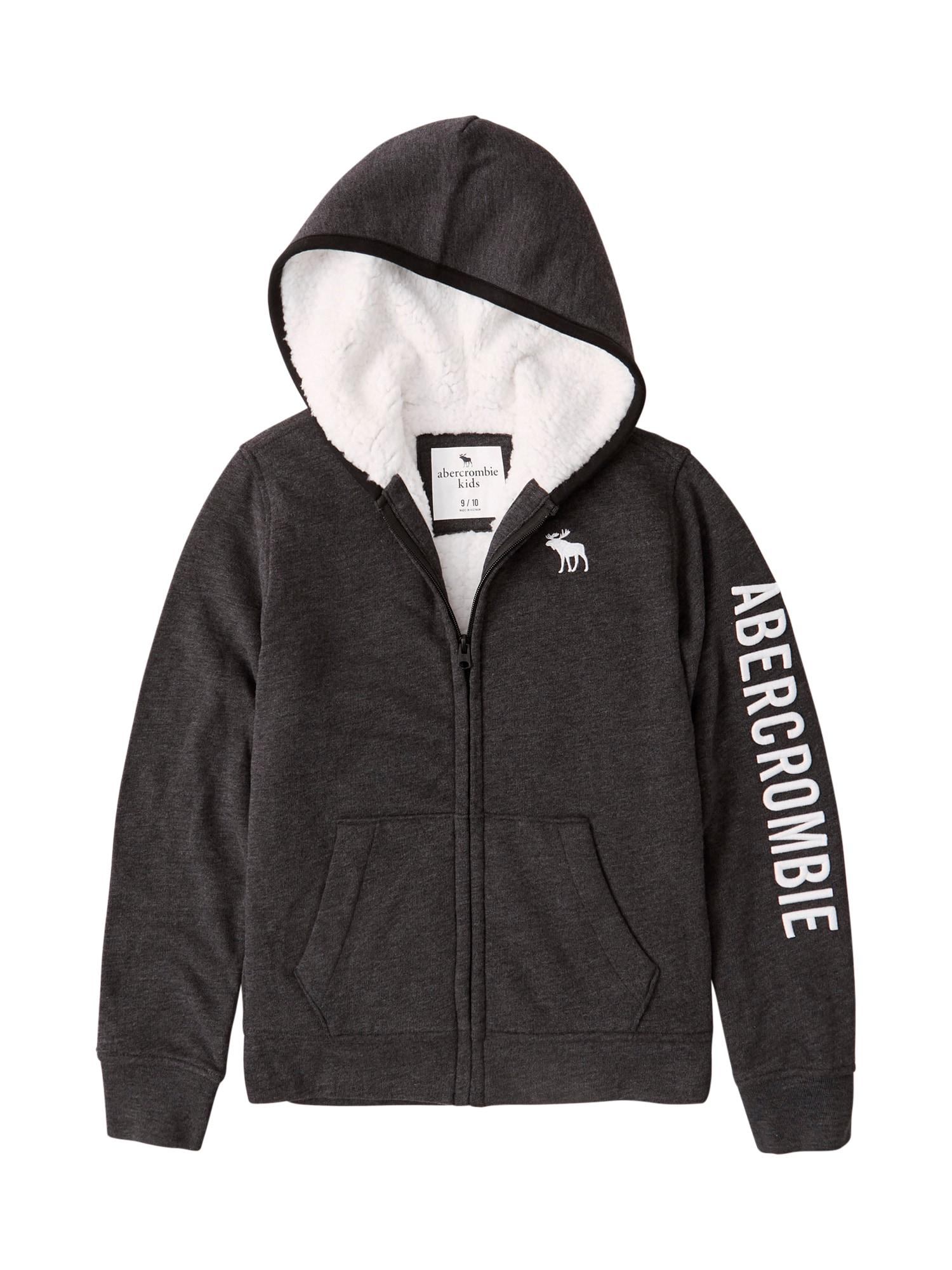 Abercrombie & Fitch Džemperis margai juoda / balta