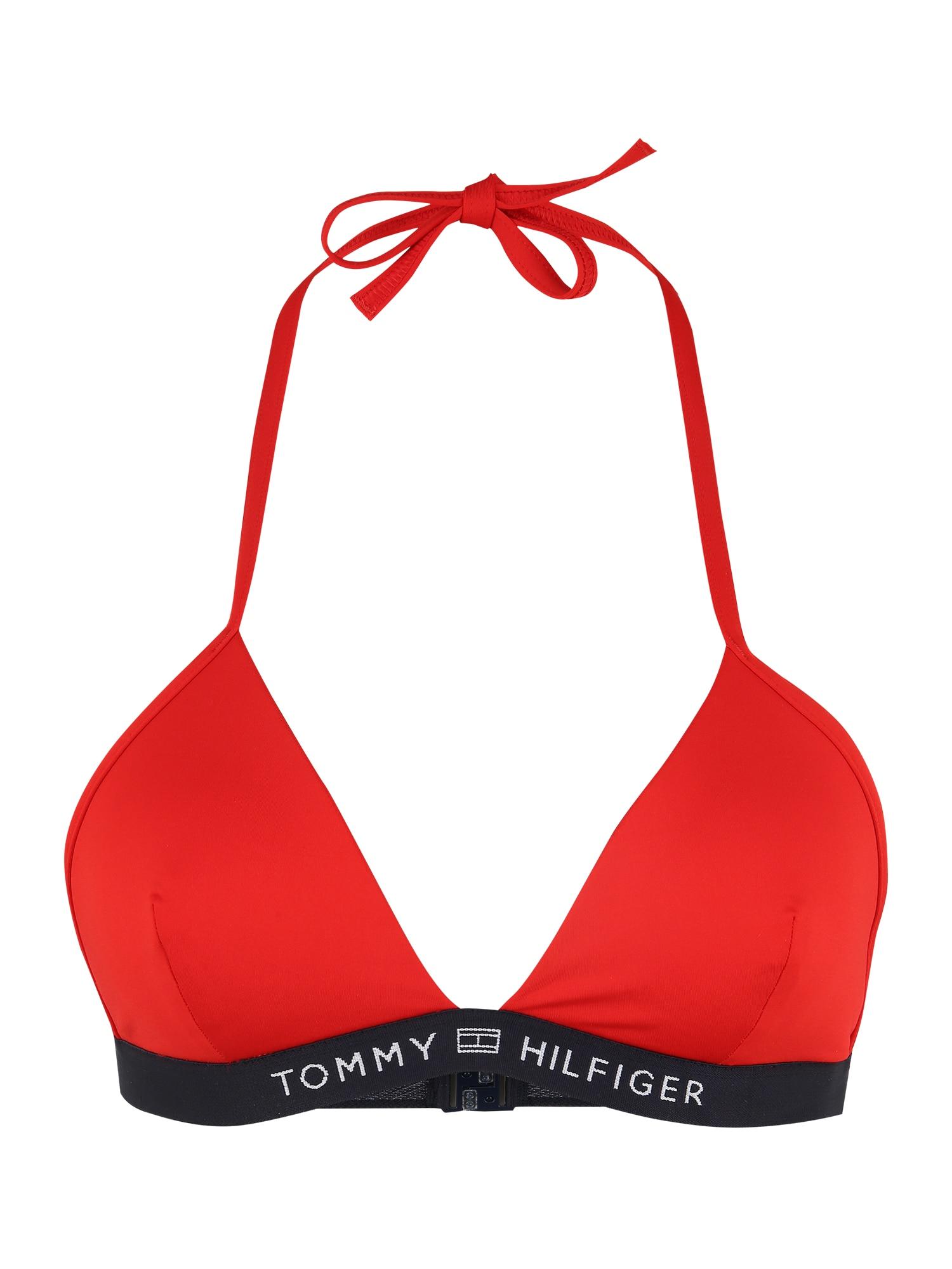 Tommy Hilfiger Underwear Bikinio viršutinė dalis šviesiai raudona / tamsiai mėlyna / balta