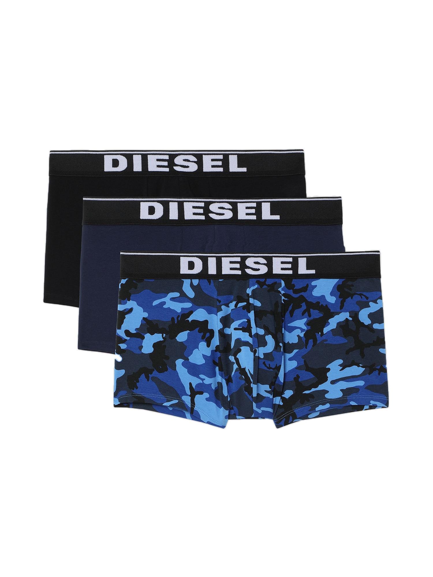 DIESEL Boxer trumpikės tamsiai mėlyna / juoda / dangaus žydra / bazalto pilka / balta