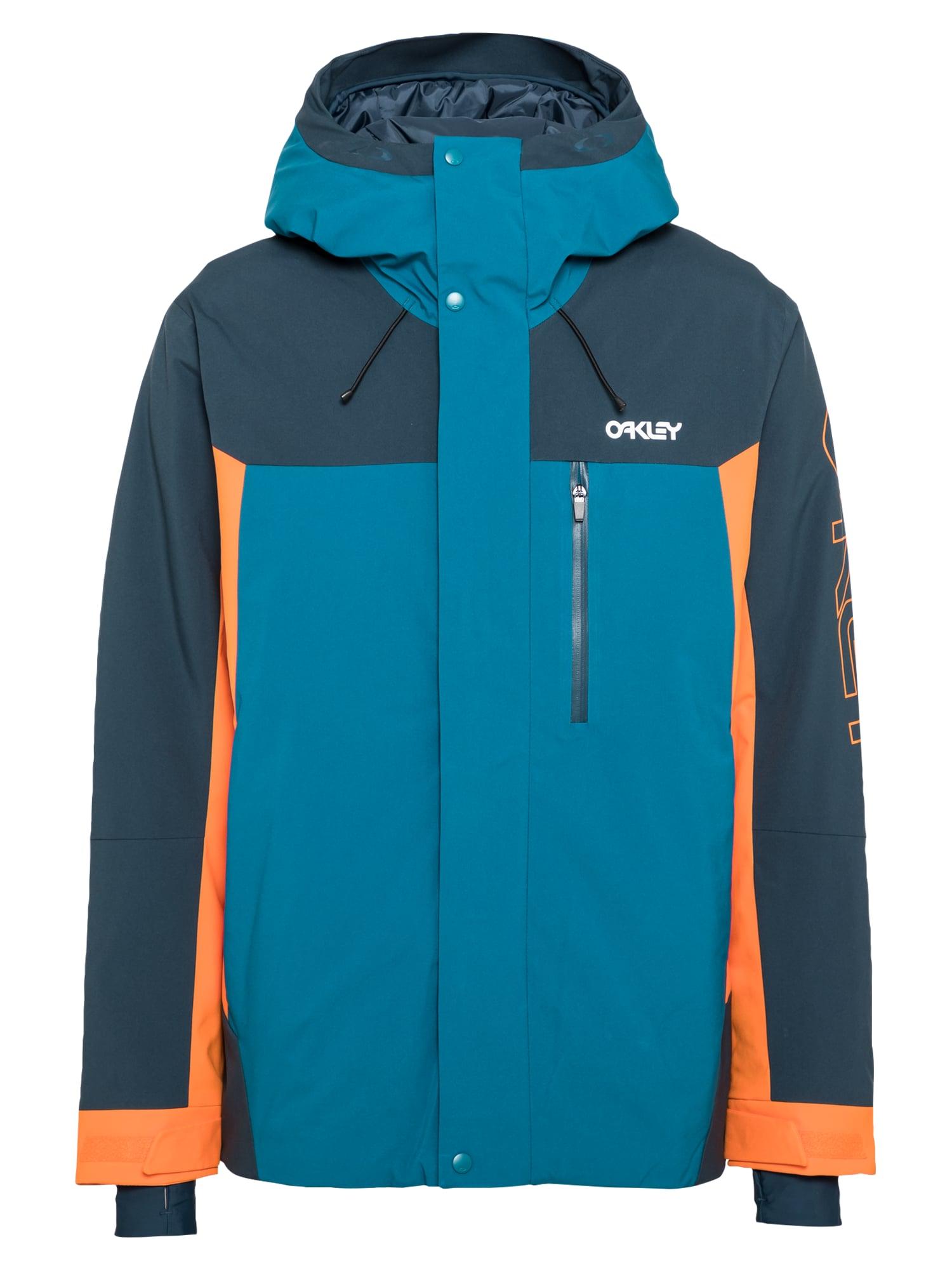 OAKLEY Laisvalaikio striukė mėlyna / tamsiai mėlyna / oranžinė