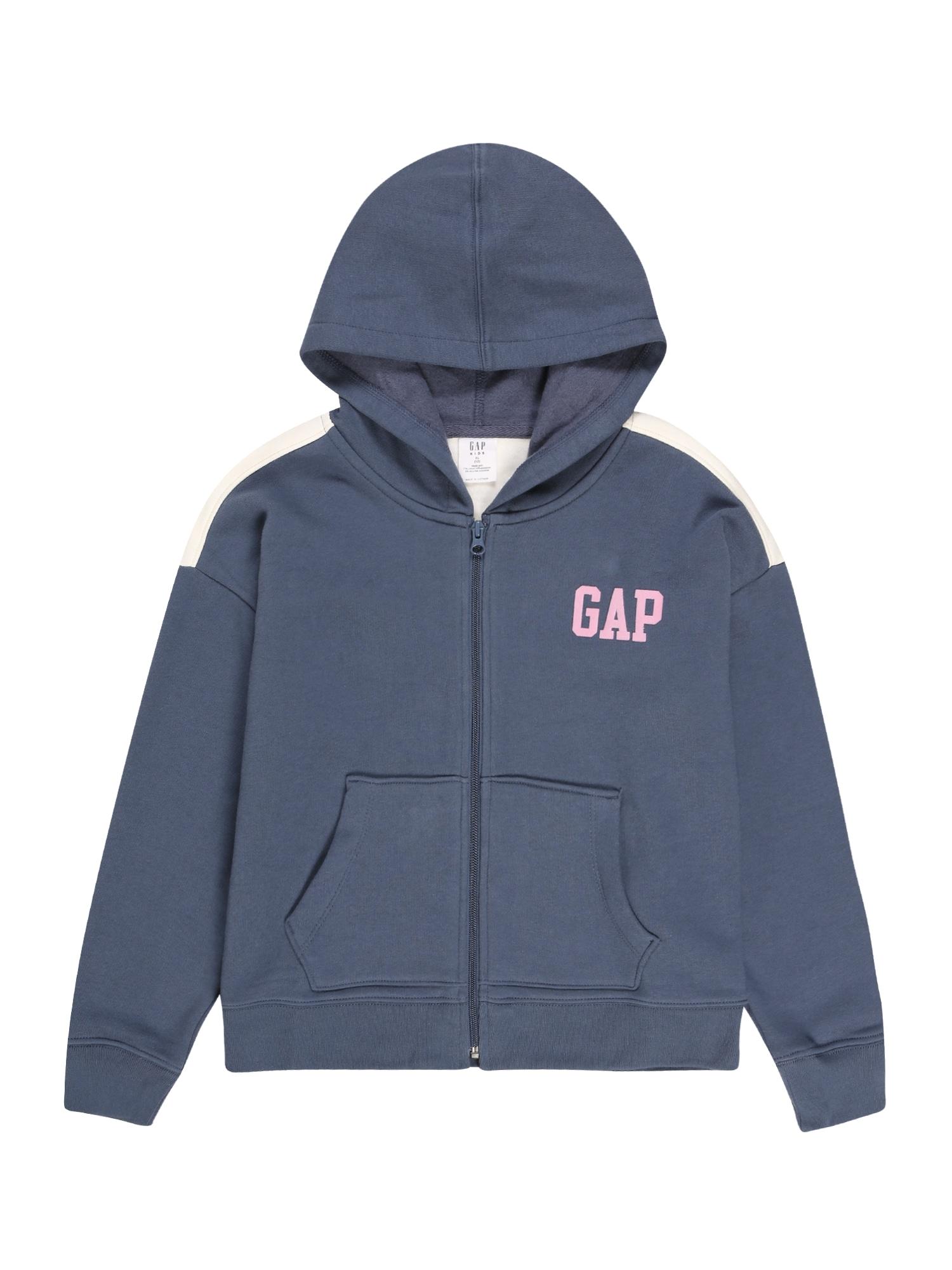 GAP Džemperis melsvai pilka / rožinė / balta