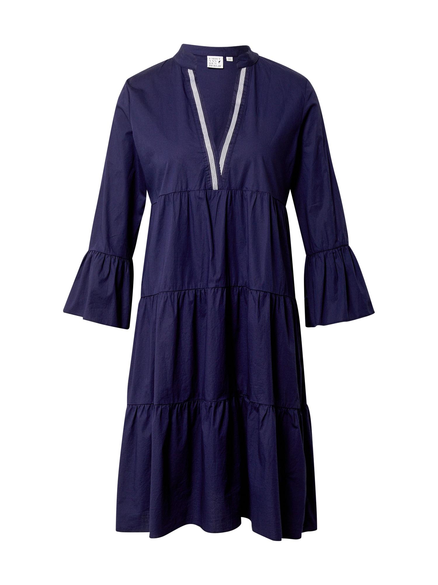 Emily Van Den Bergh Suknelė tamsiai mėlyna / balta