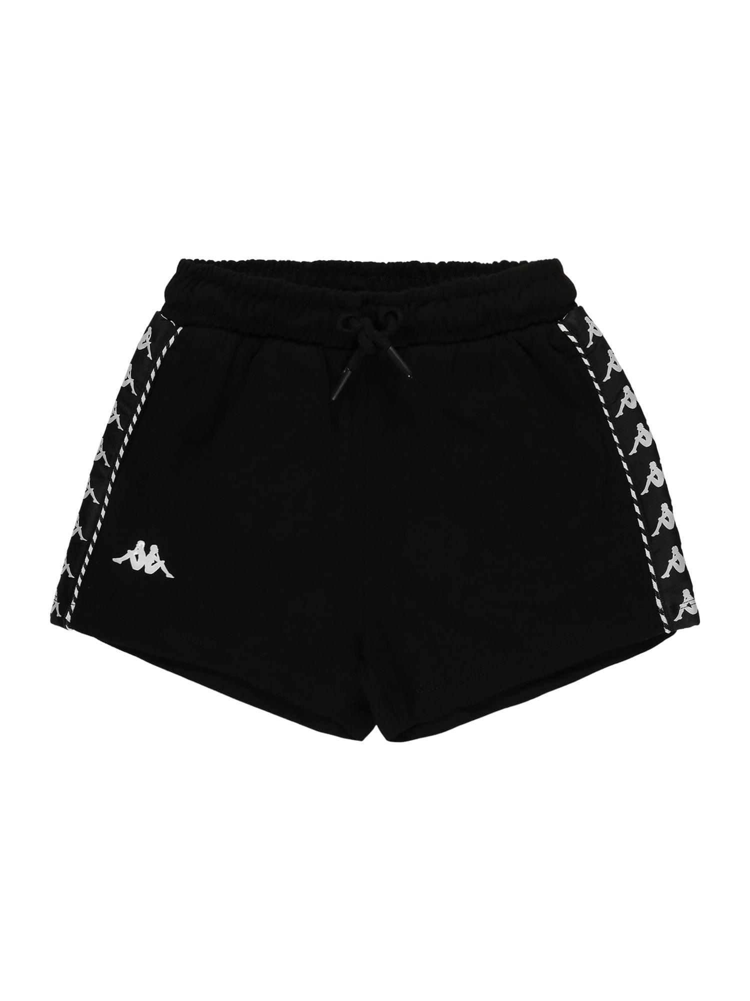 KAPPA Sportinės kelnės juoda / balta