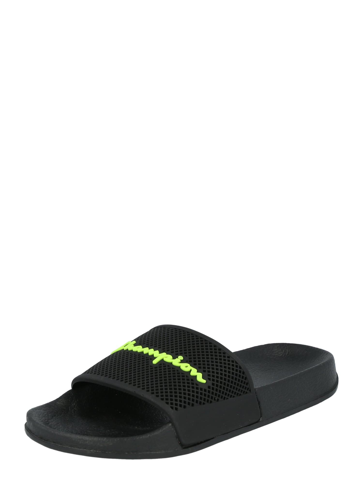 Champion Authentic Athletic Apparel Sandalai / maudymosi batai 'Daytona' neoninė oranžinė / juoda