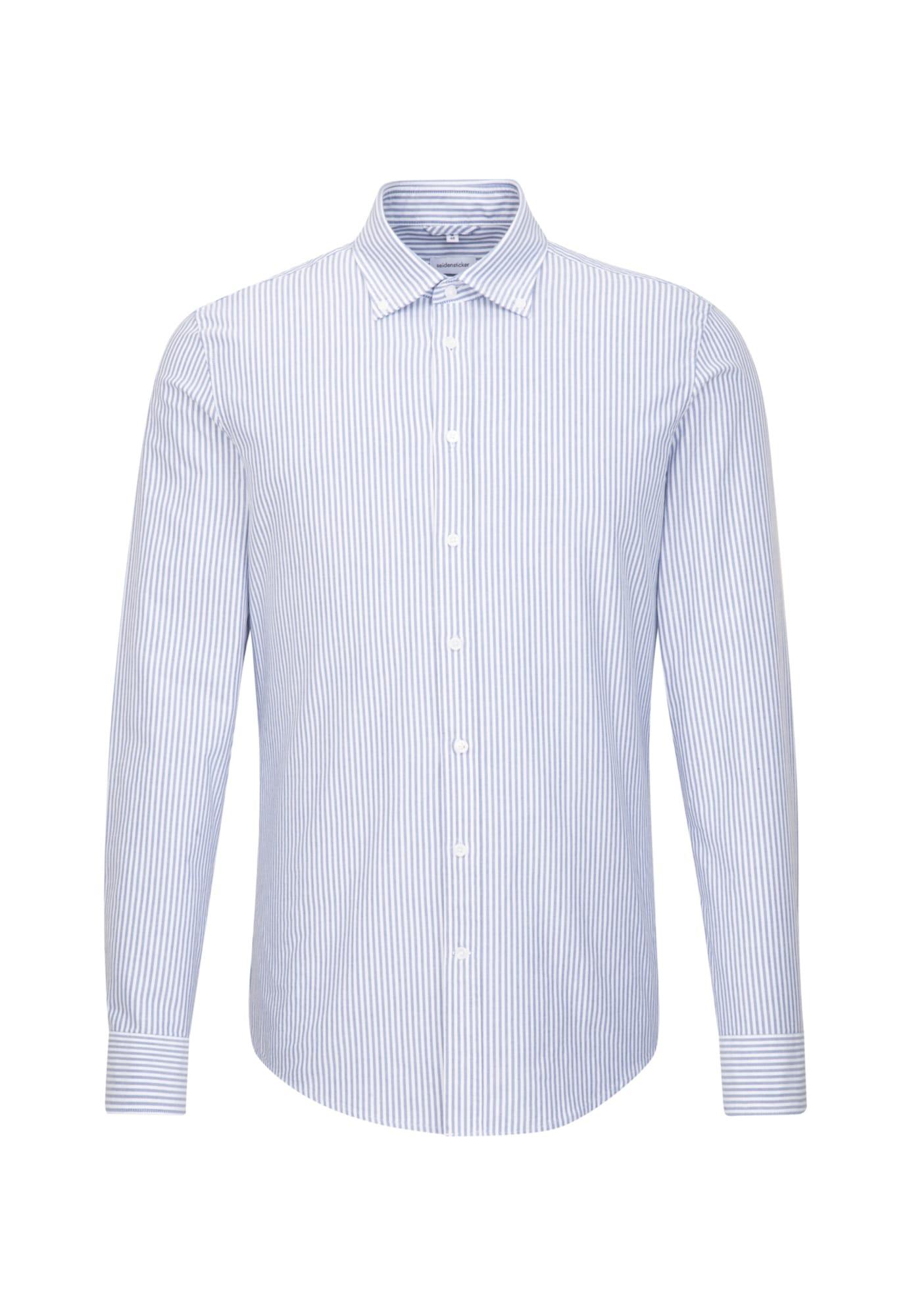 SEIDENSTICKER Dalykinio stiliaus marškiniai mėlyna dūmų spalva / balta