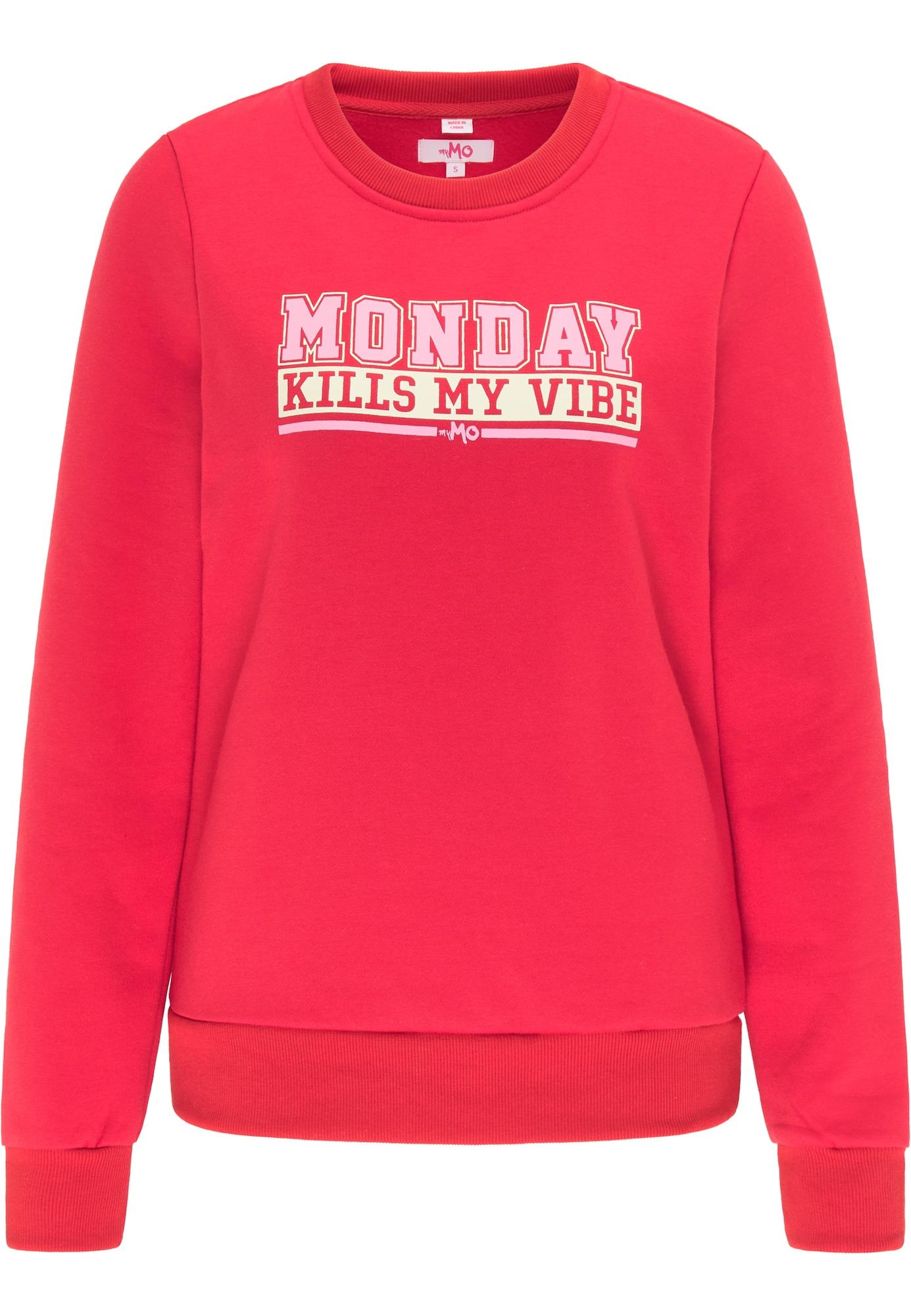MYMO Megztinis be užsegimo raudona / balta / rožinė