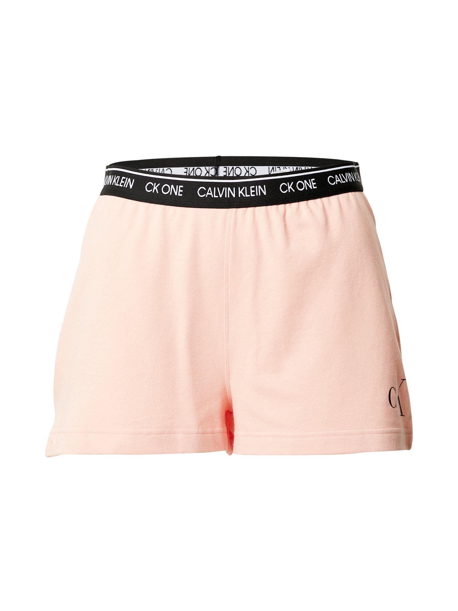 Calvin Klein Underwear Pyžamové kalhoty  pink / černá