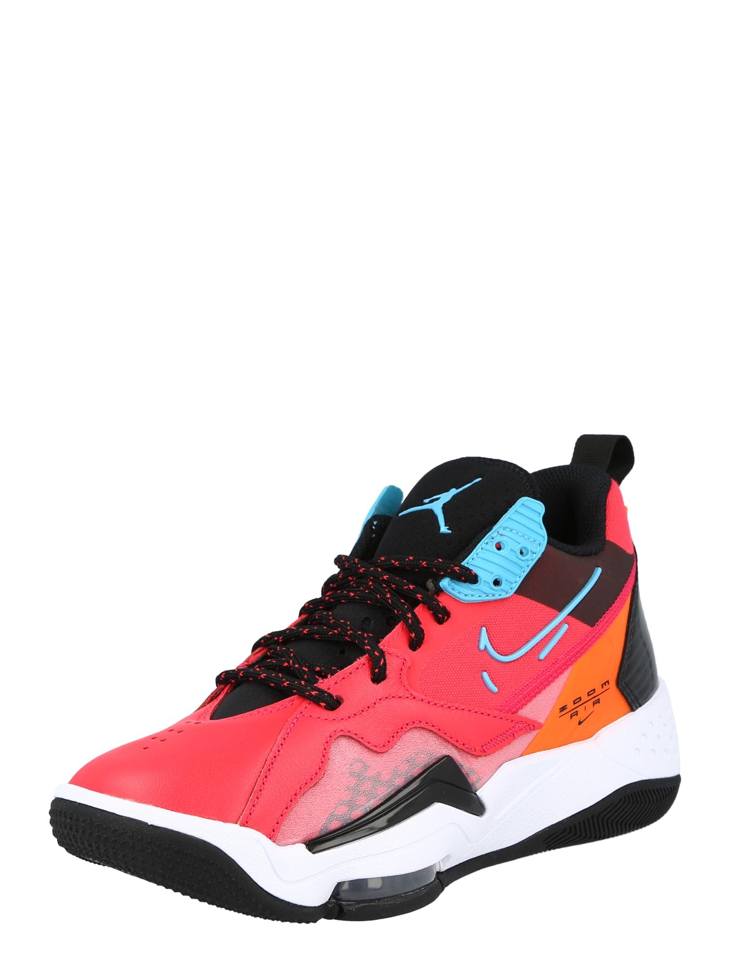 Jordan Sportbačiai su auliuku granatų spalva / juoda / tamsiai oranžinė / šviesiai mėlyna