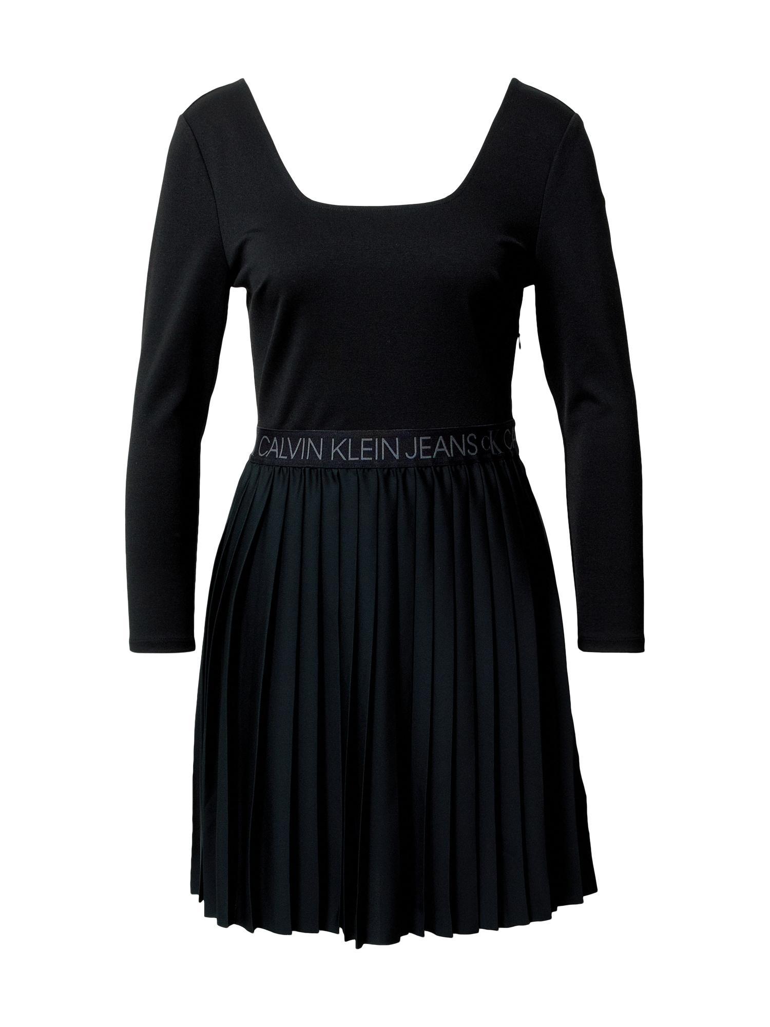 Calvin Klein Jeans Suknelė juoda / pilka