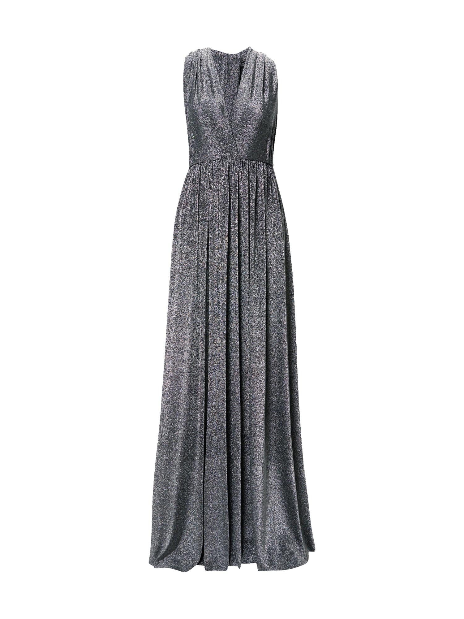 STAR NIGHT Vakarinė suknelė sidabrinė / juoda