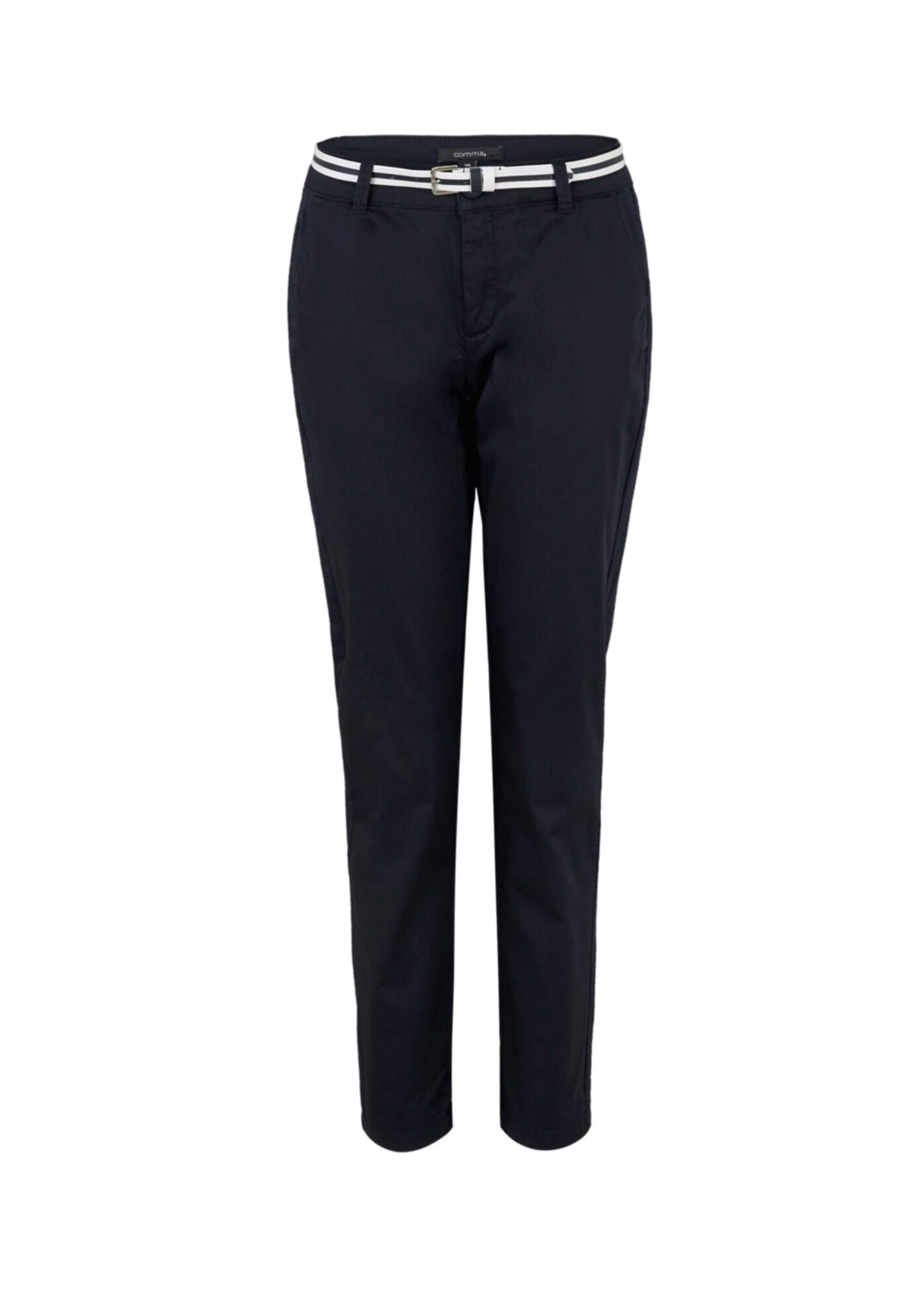 COMMA Chino stiliaus kelnės tamsiai mėlyna