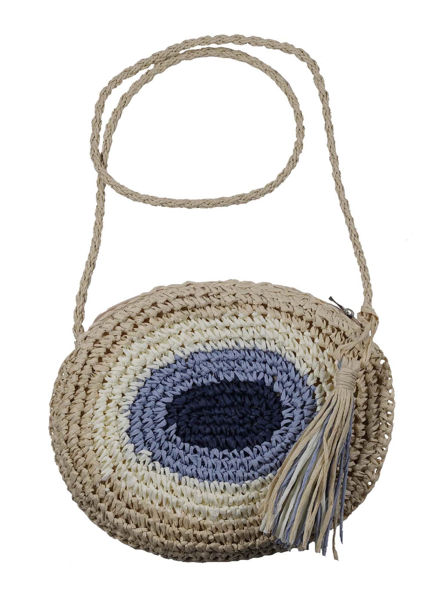 Zwillingsherz Pirkinių krepšys smėlio spalva / nebalintos drobės spalva / mėlyna / tamsiai mėlyna