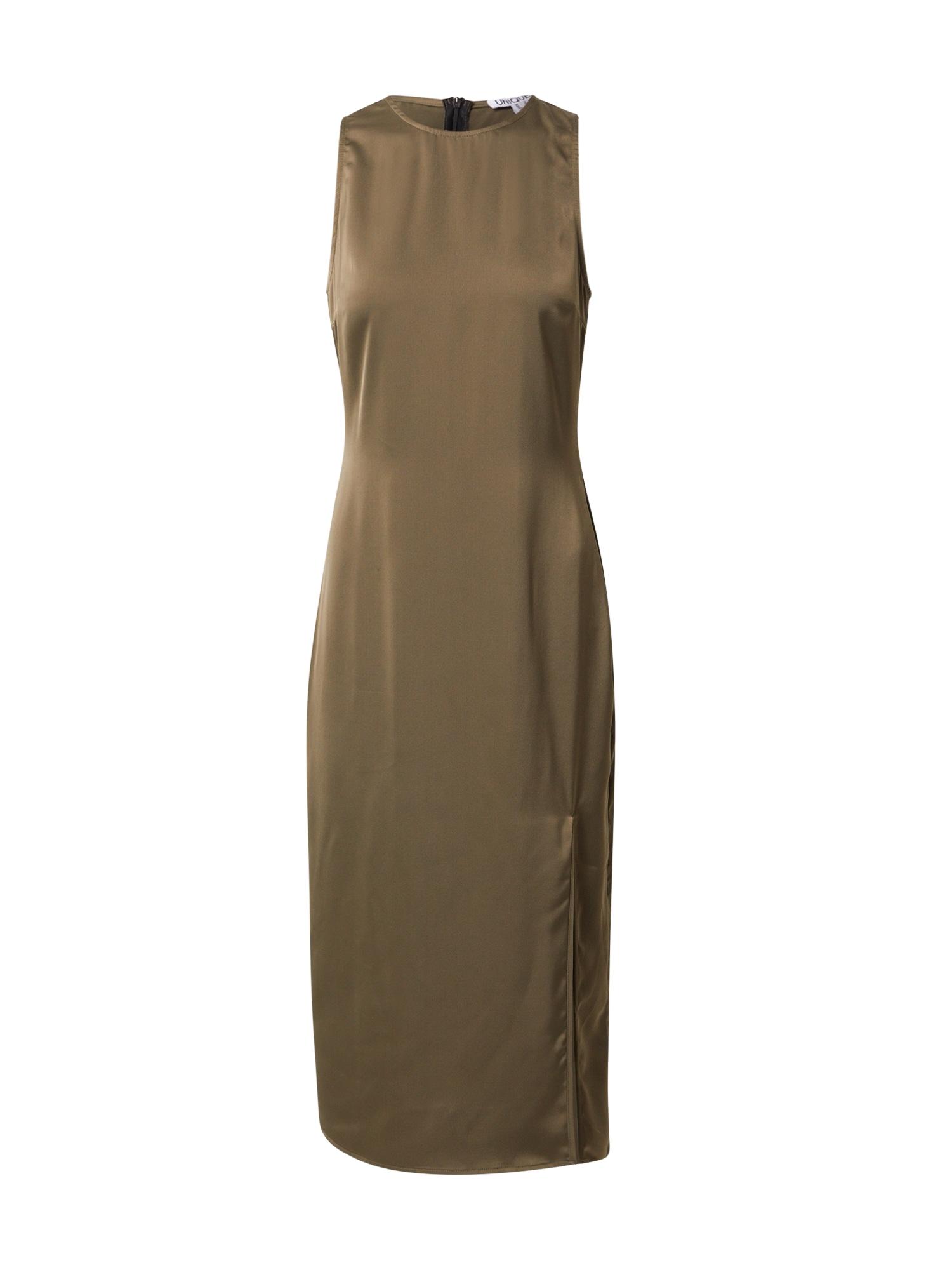 Unique21 Suknelė rusvai žalia