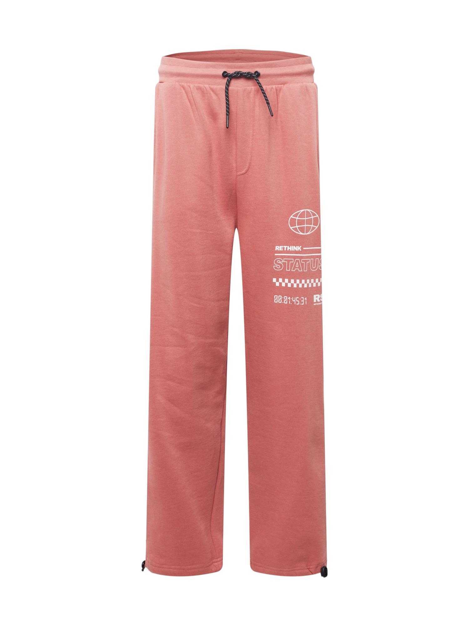 Rethink Status Kelnės ryškiai rožinė spalva / balta