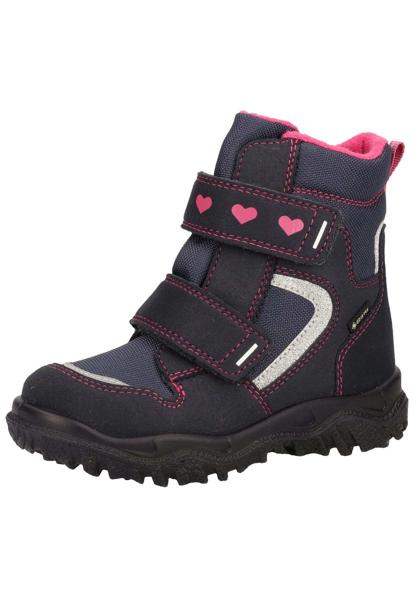 SUPERFIT Sniego batai nakties mėlyna / rožinė / melsvai pilka