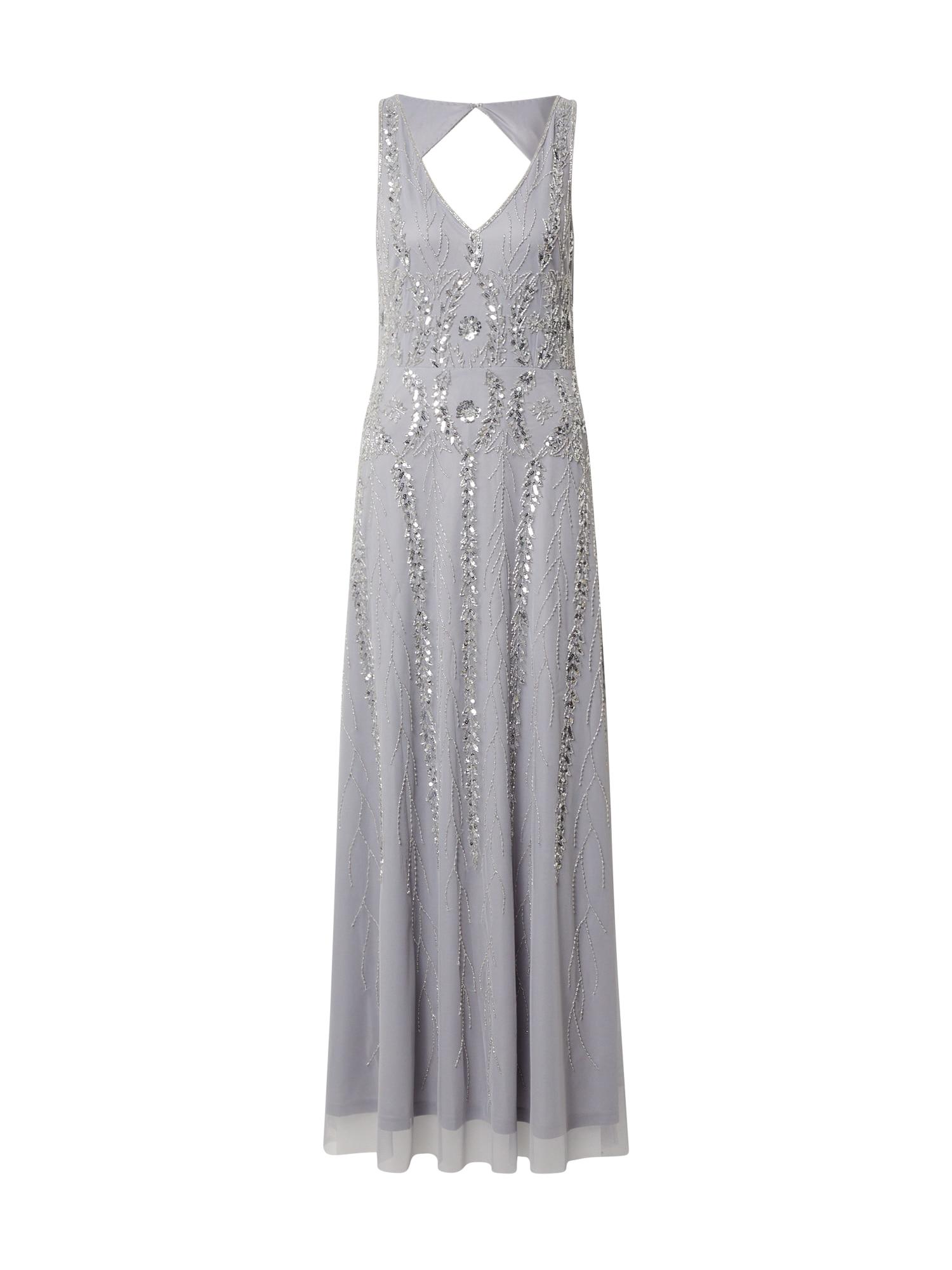 Hailey Logan Vakarinė suknelė sidabro pilka / sidabrinė