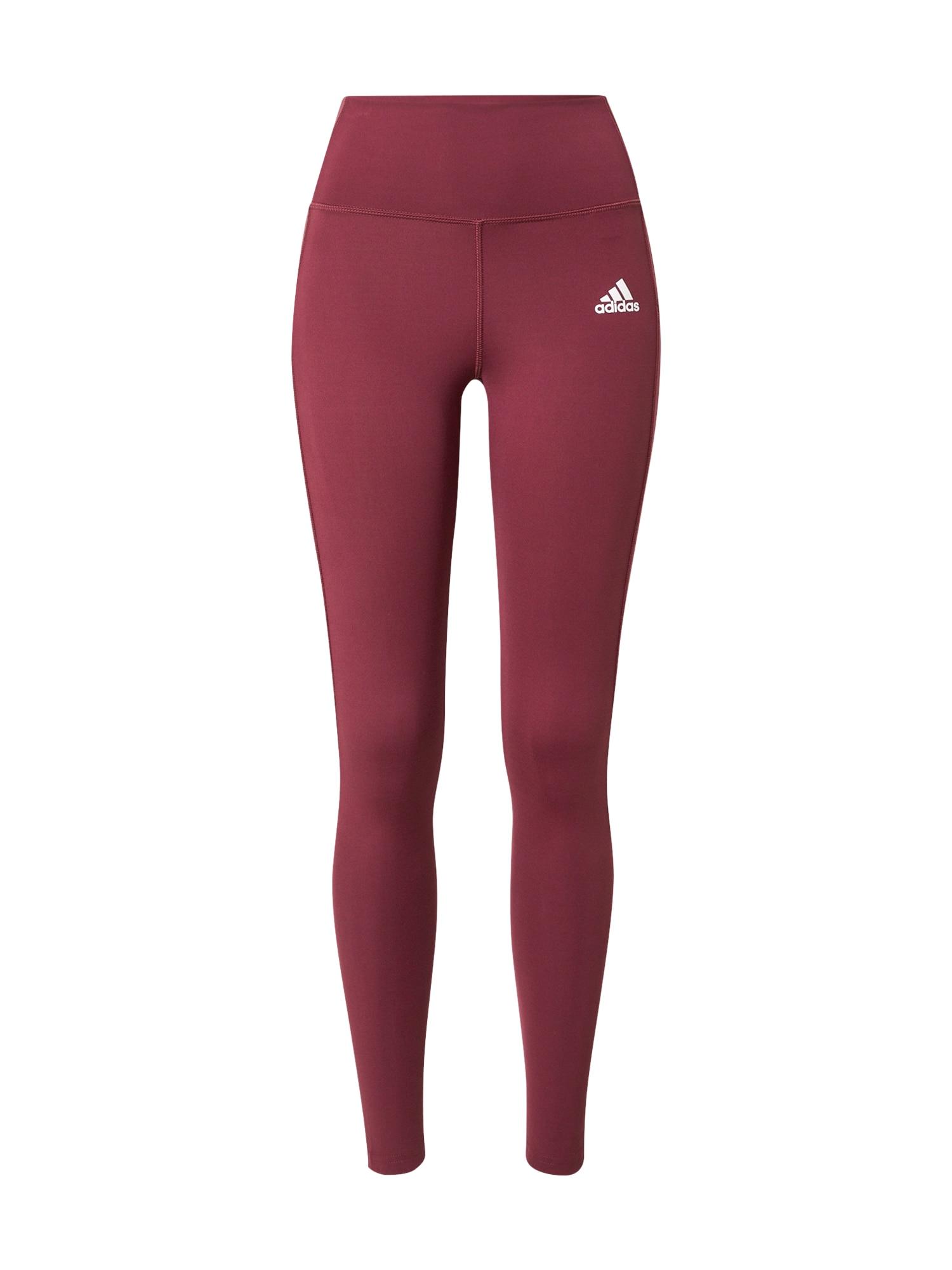 ADIDAS PERFORMANCE Sportovní kalhoty  bordó