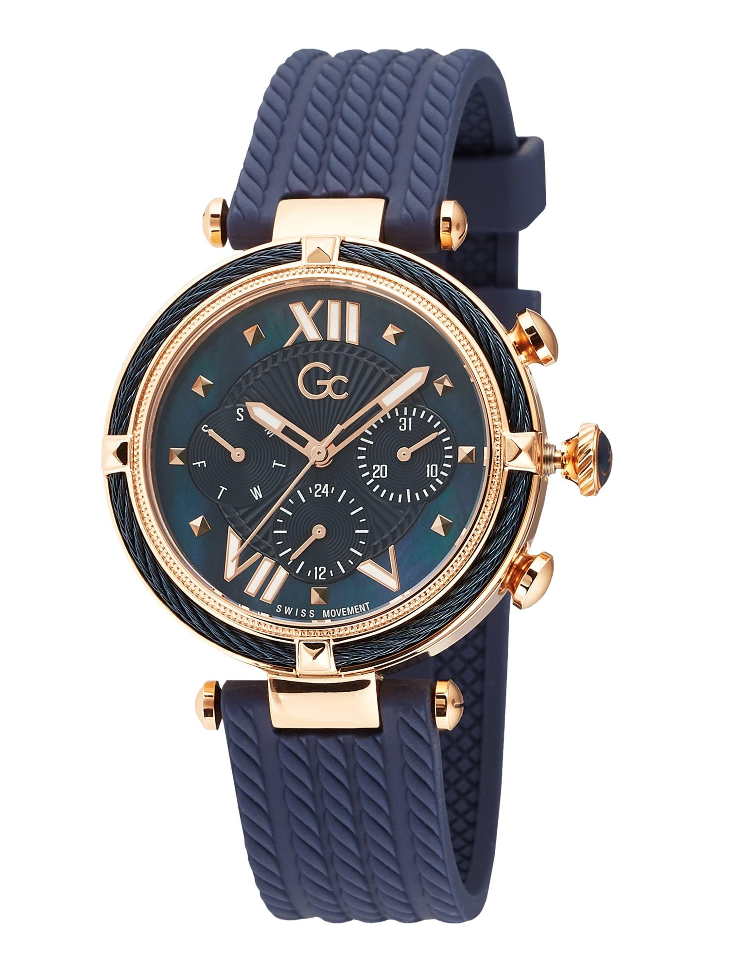 Gc Analoginis (įprasto dizaino) laikrodis auksas / mėlyna