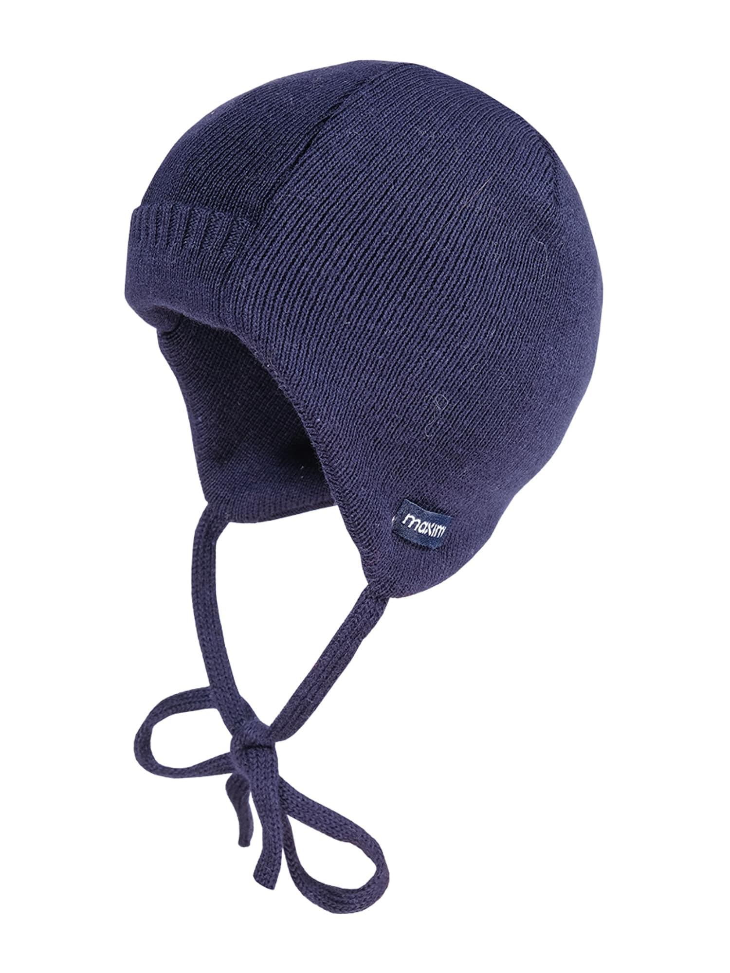 MAXIMO Megzta kepurė 'CHRIS' tamsiai mėlyna jūros spalva