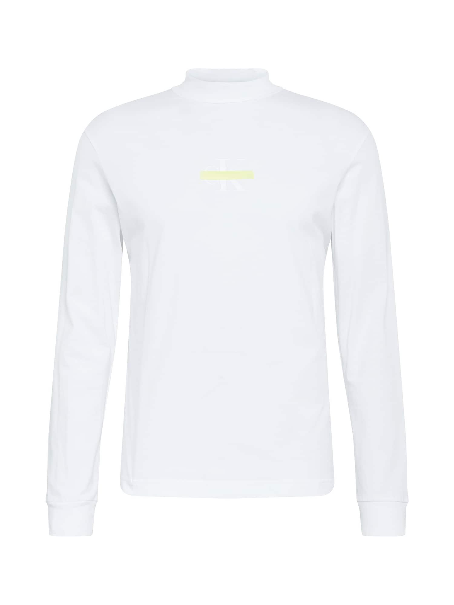 Calvin Klein Jeans Marškinėliai natūrali balta / geltona