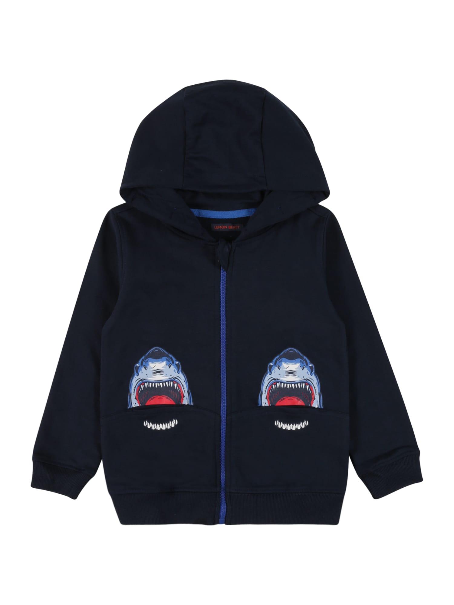 LEMON BERET Džemperis tamsiai mėlyna / mėlyna / balta / raudona