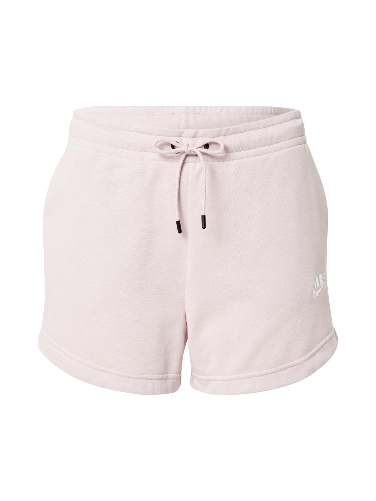 Nike Sportswear Kelnės alyvinė spalva / balta