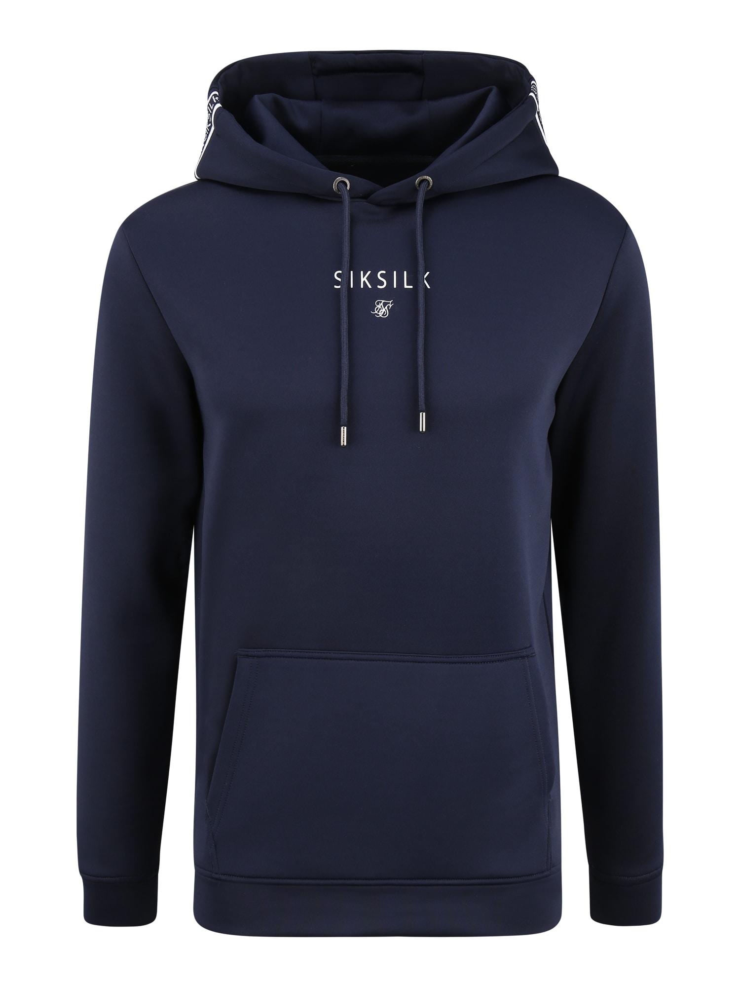 SikSilk Megztinis be užsegimo balta / tamsiai mėlyna