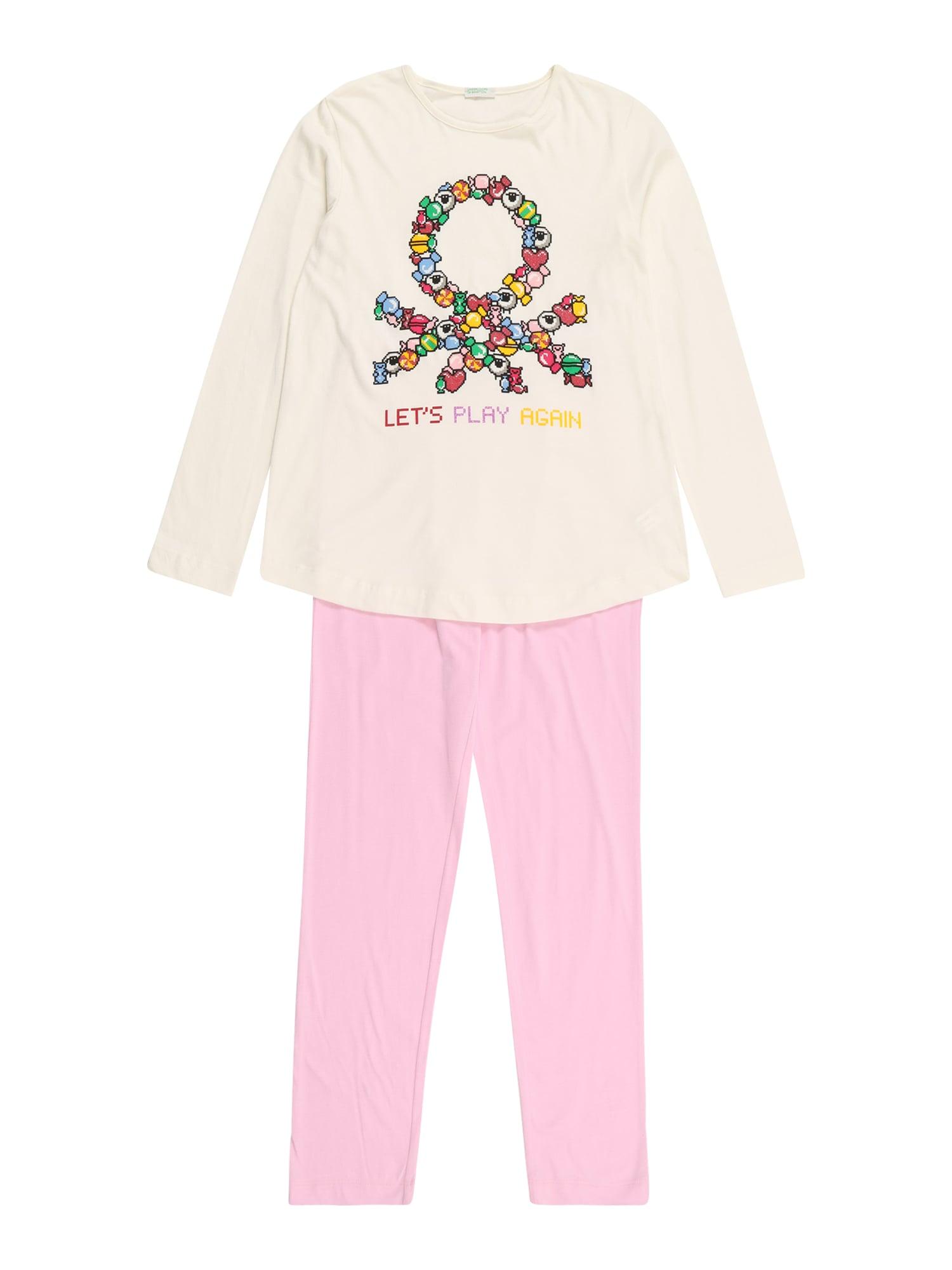 UNITED COLORS OF BENETTON Miego kostiumas kremo / geltona / mišrios spalvos / rožių spalva