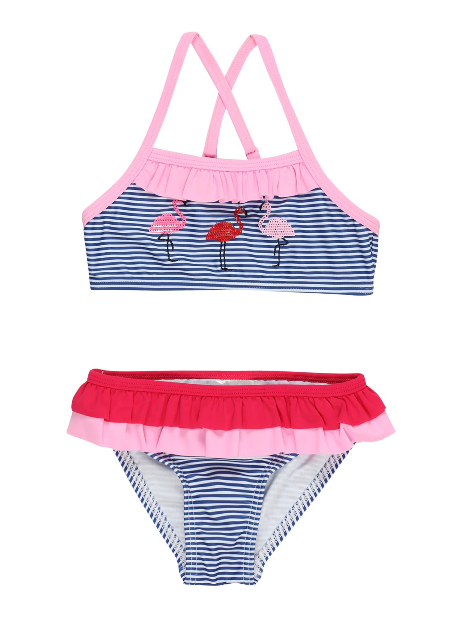 STACCATO Bikinis tamsiai mėlyna / rožių spalva / raudona / balta