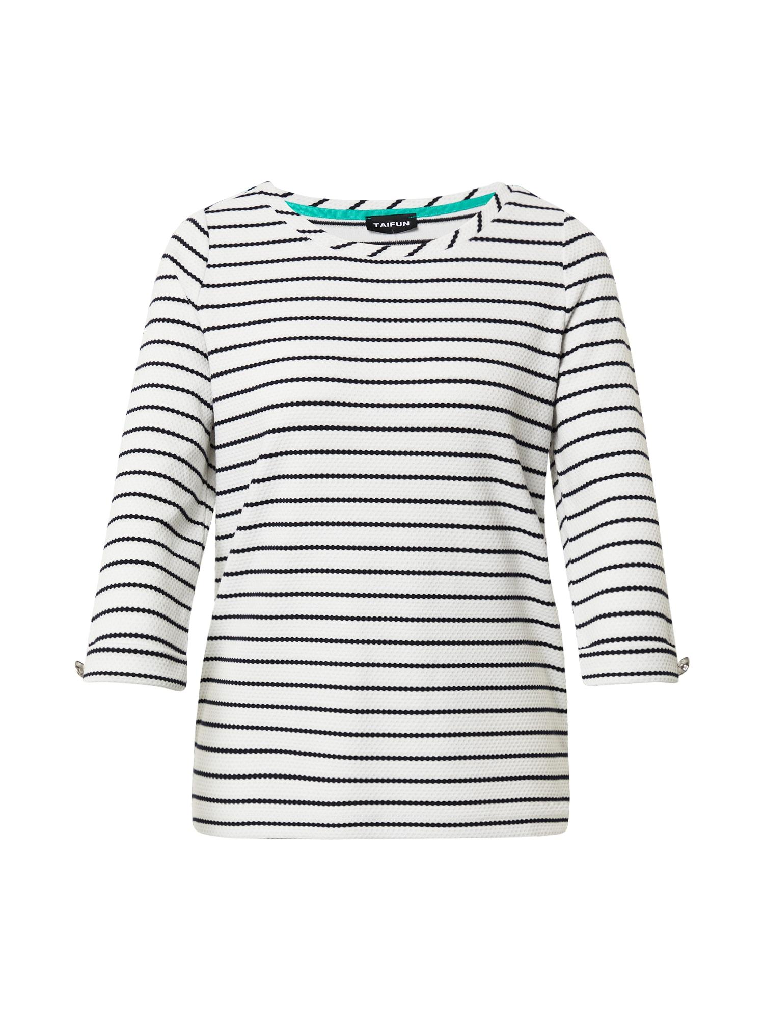 TAIFUN Marškinėliai balkšva / juoda