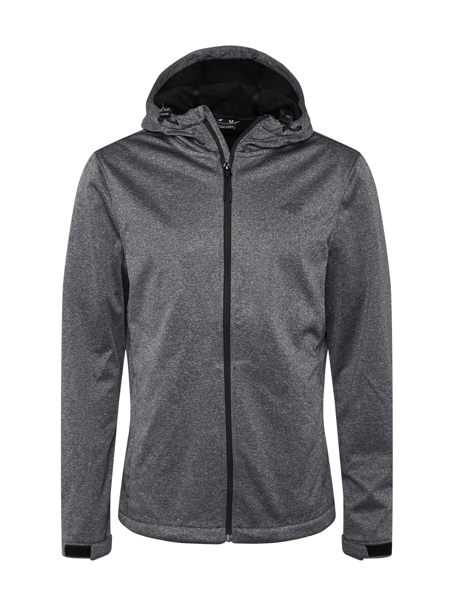 4F Sportovní bunda  šedý melír
