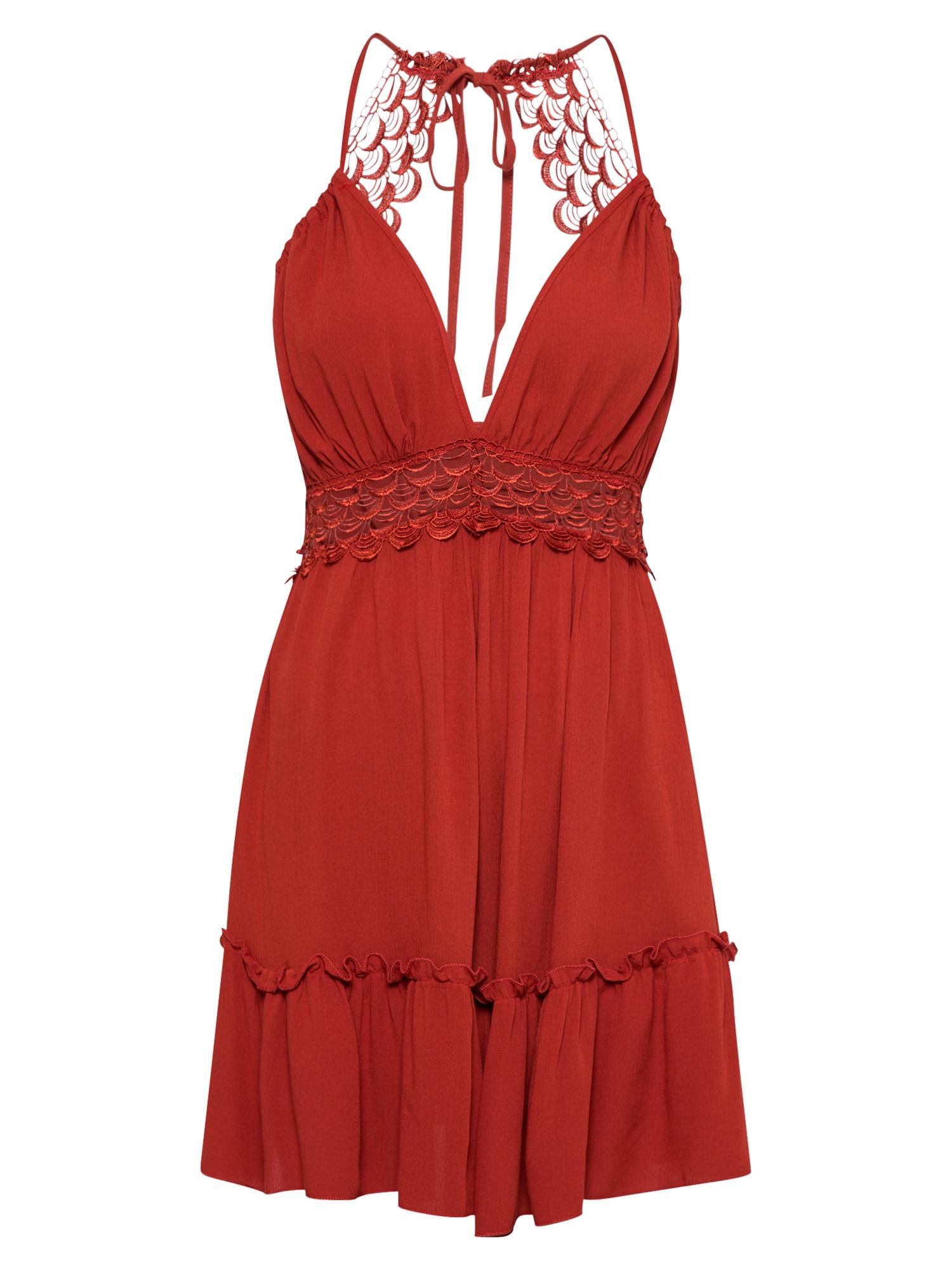 Trendyol Kokteilinė suknelė rusva