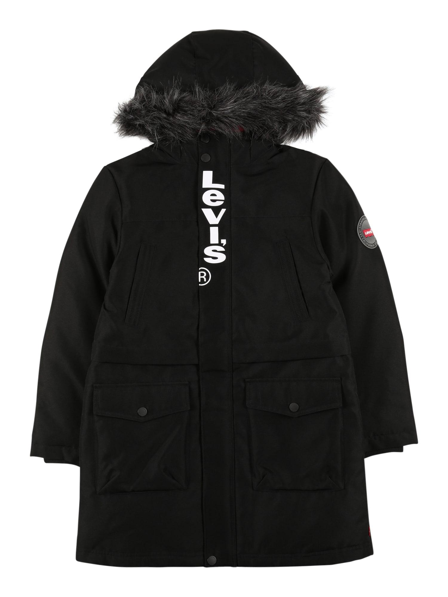 LEVI'S Zimní bunda  černá