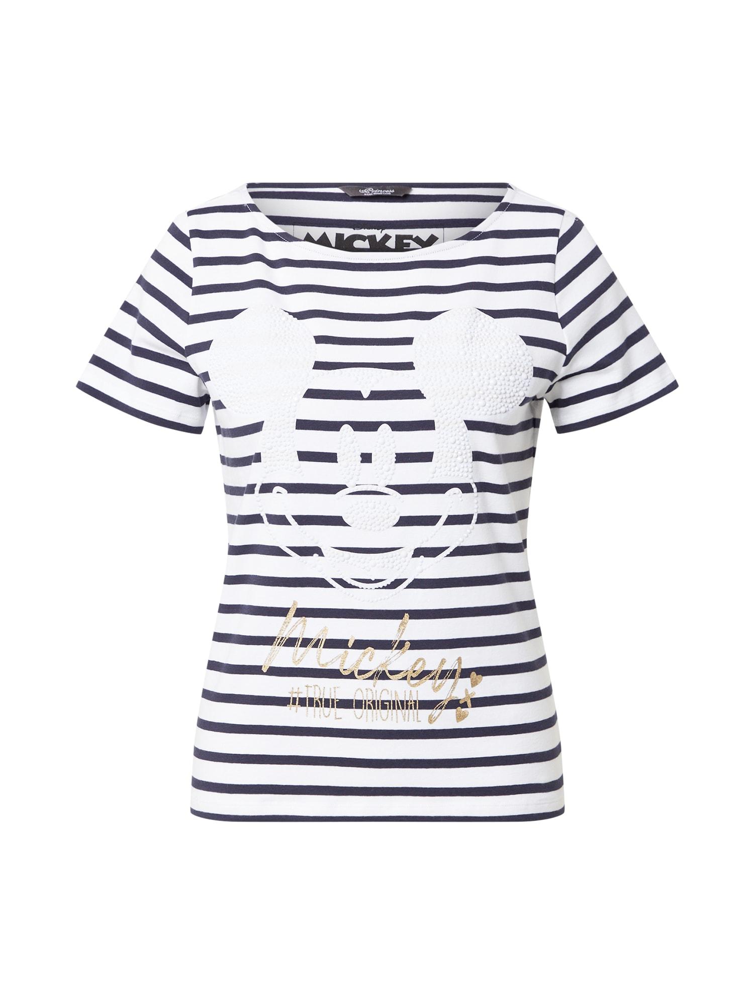 PRINCESS GOES HOLLYWOOD Marškinėliai mėlyna / balta / auksas