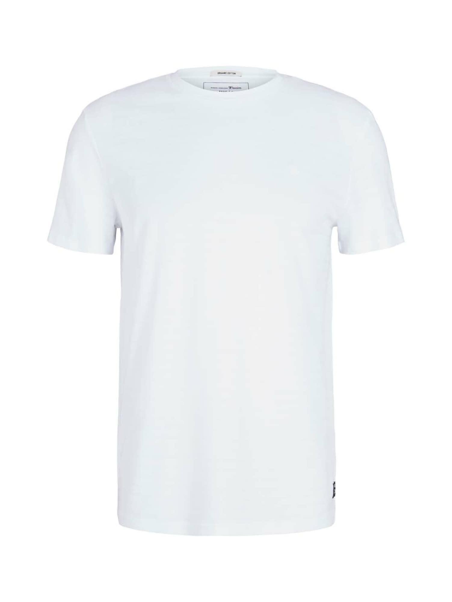 TOM TAILOR DENIM Tričko  bílá