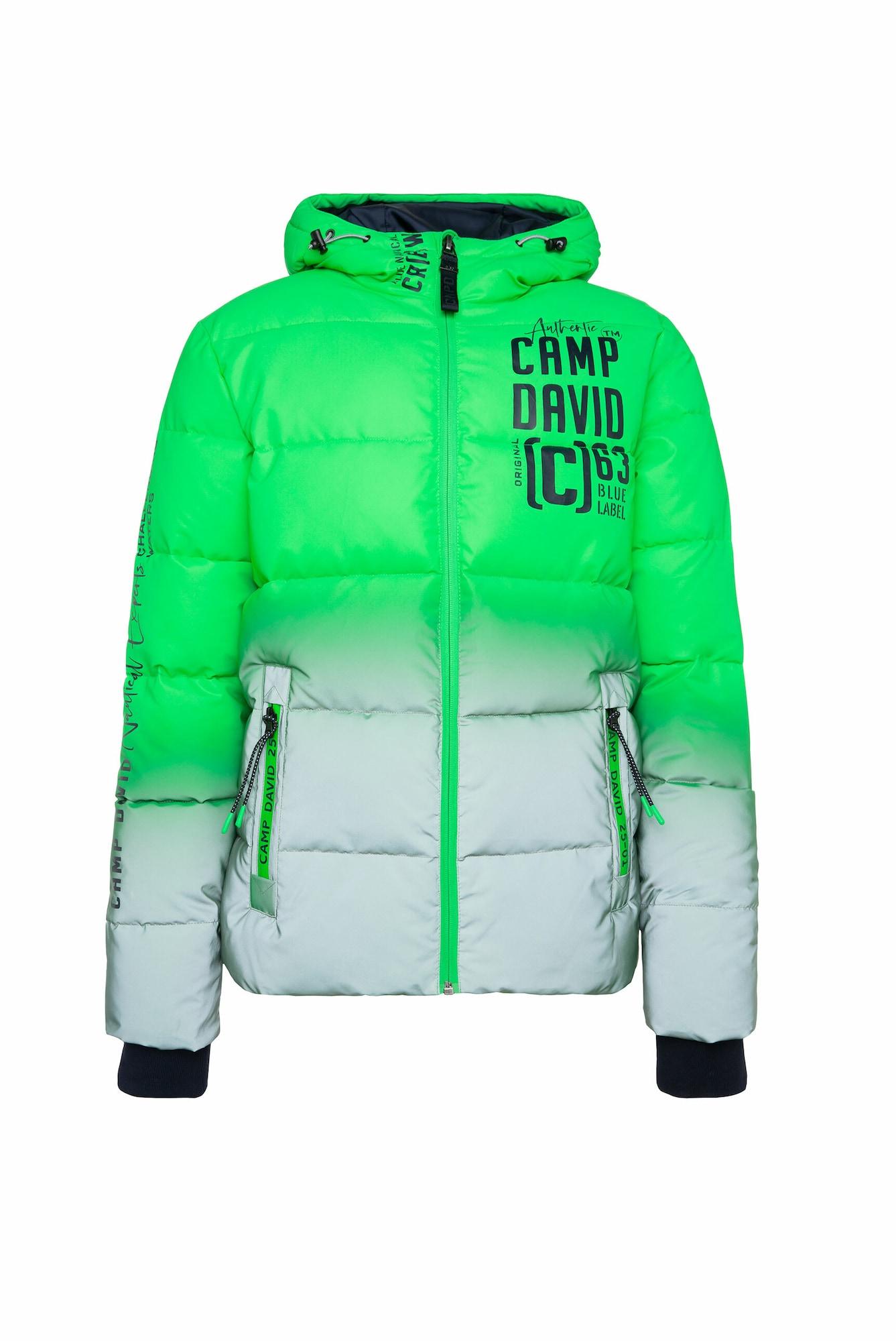 CAMP DAVID Zimní bunda  svítivě zelená