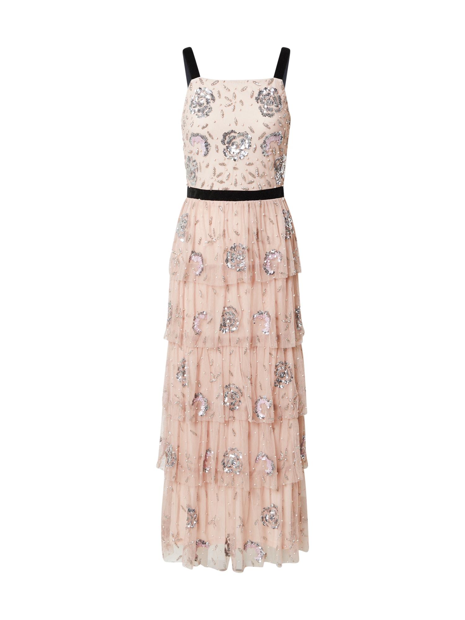 Frock and Frill Vakarinė suknelė rožių spalva / juoda